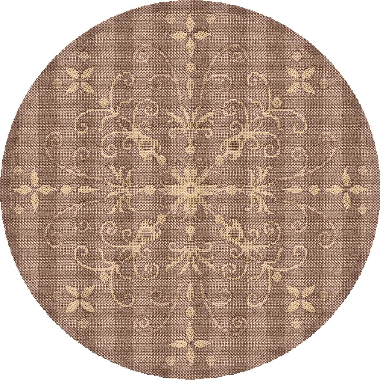 Dynamic Rugs Piazza Floral Brown 2583 Area Rug