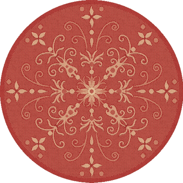 Dynamic Rugs Piazza Floral Red 2583 Area Rug
