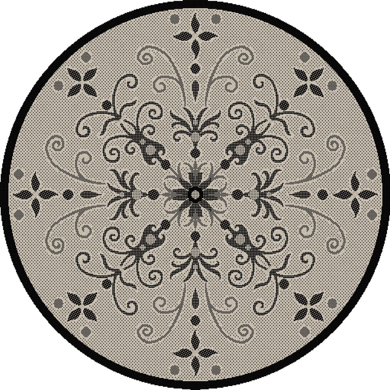 Dynamic Rugs Piazza Floral Sand/black 2583 Area Rug