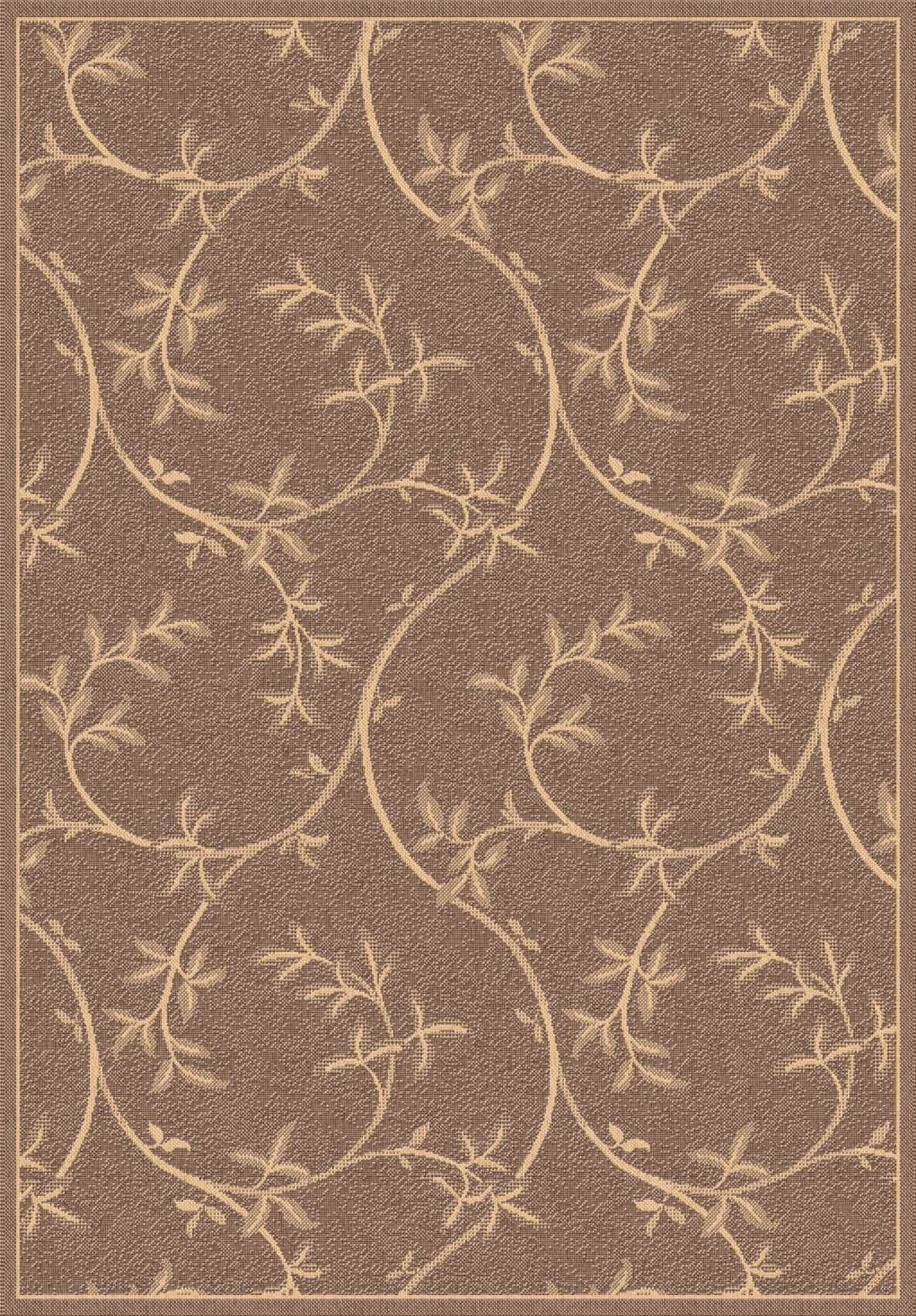 Dynamic Rugs Piazza Floral Brown 2585 Area Rug