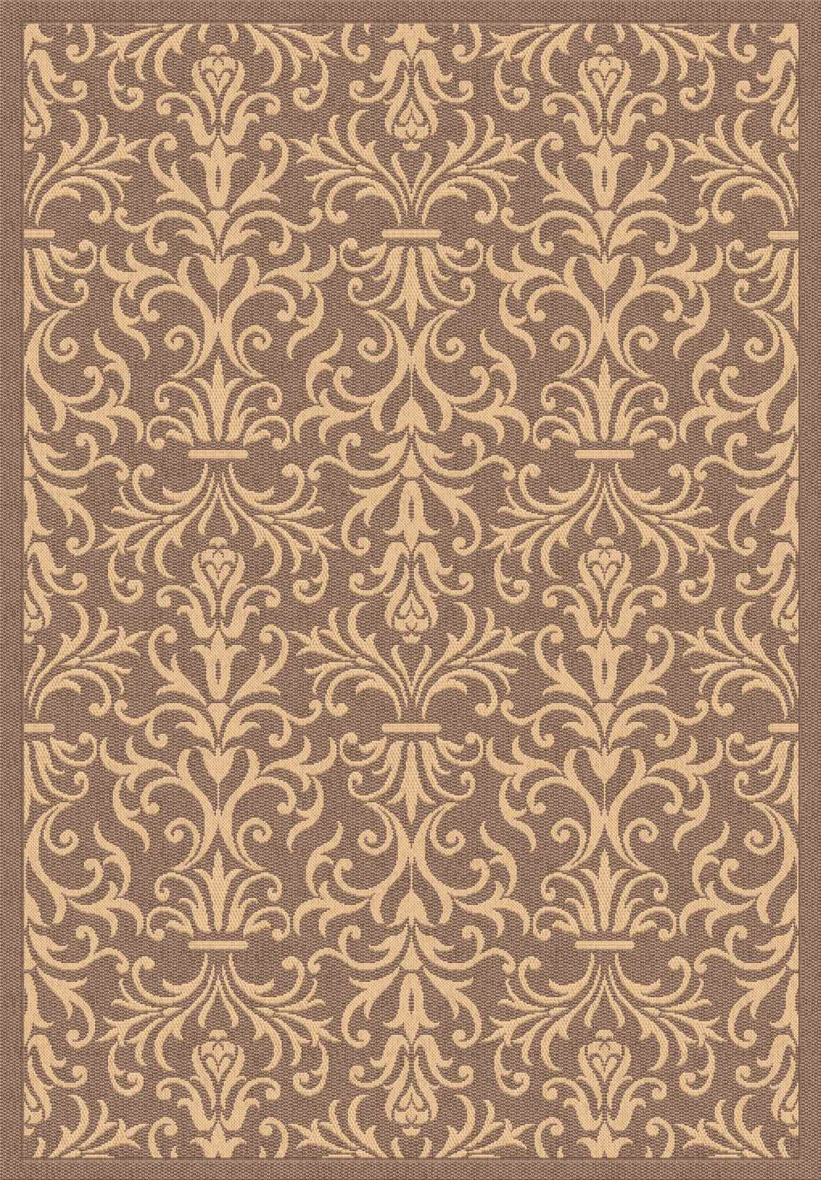 Dynamic Rugs Piazza Medallion/damask Brown 2742 Area Rug