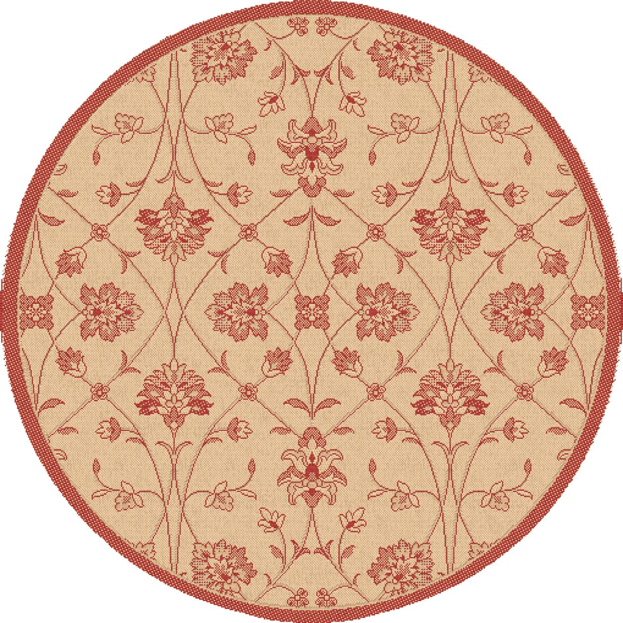 Dynamic Rugs Piazza Floral Red 2744 Area Rug