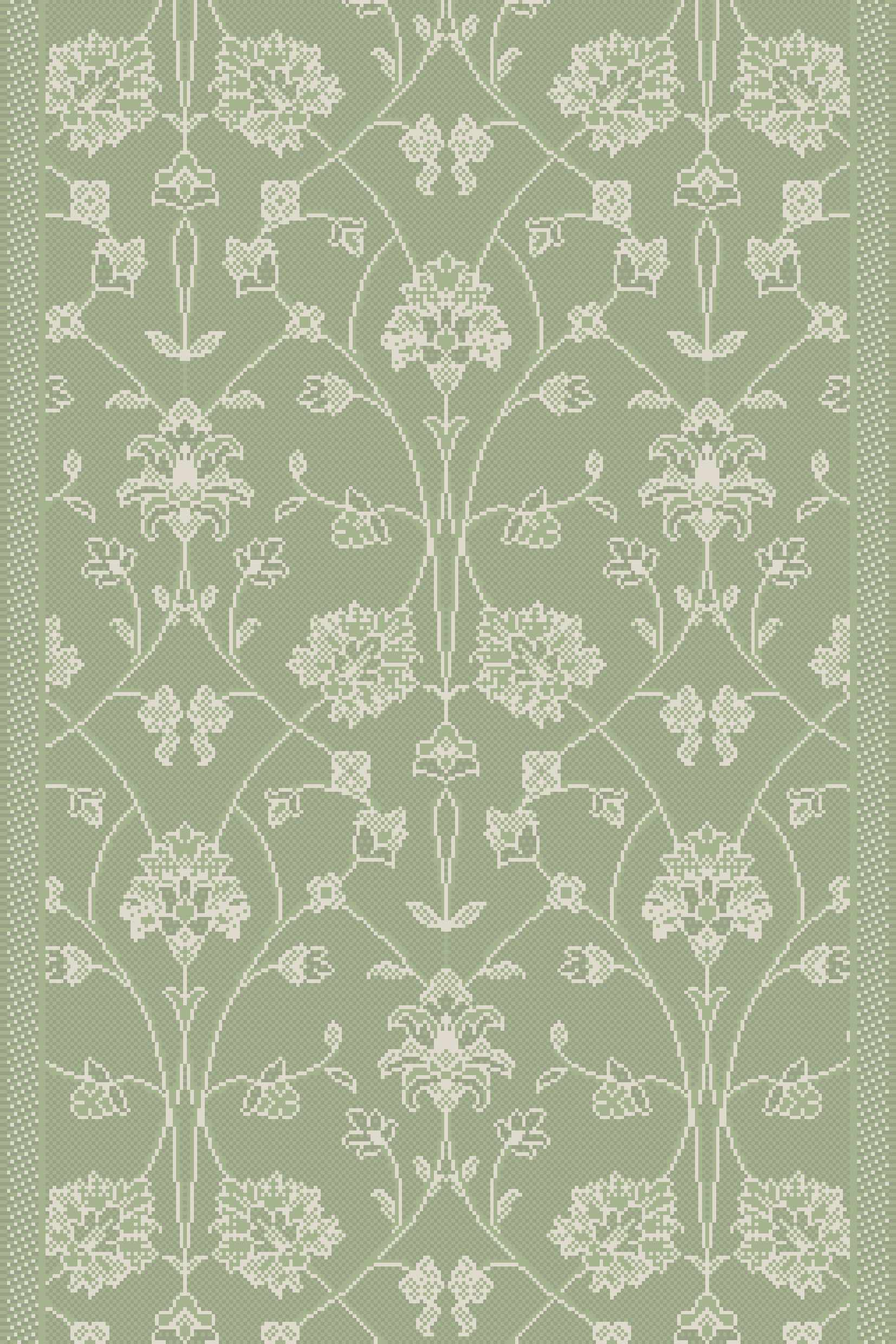 Dynamic Rugs Piazza Floral Green 2744 Area Rug