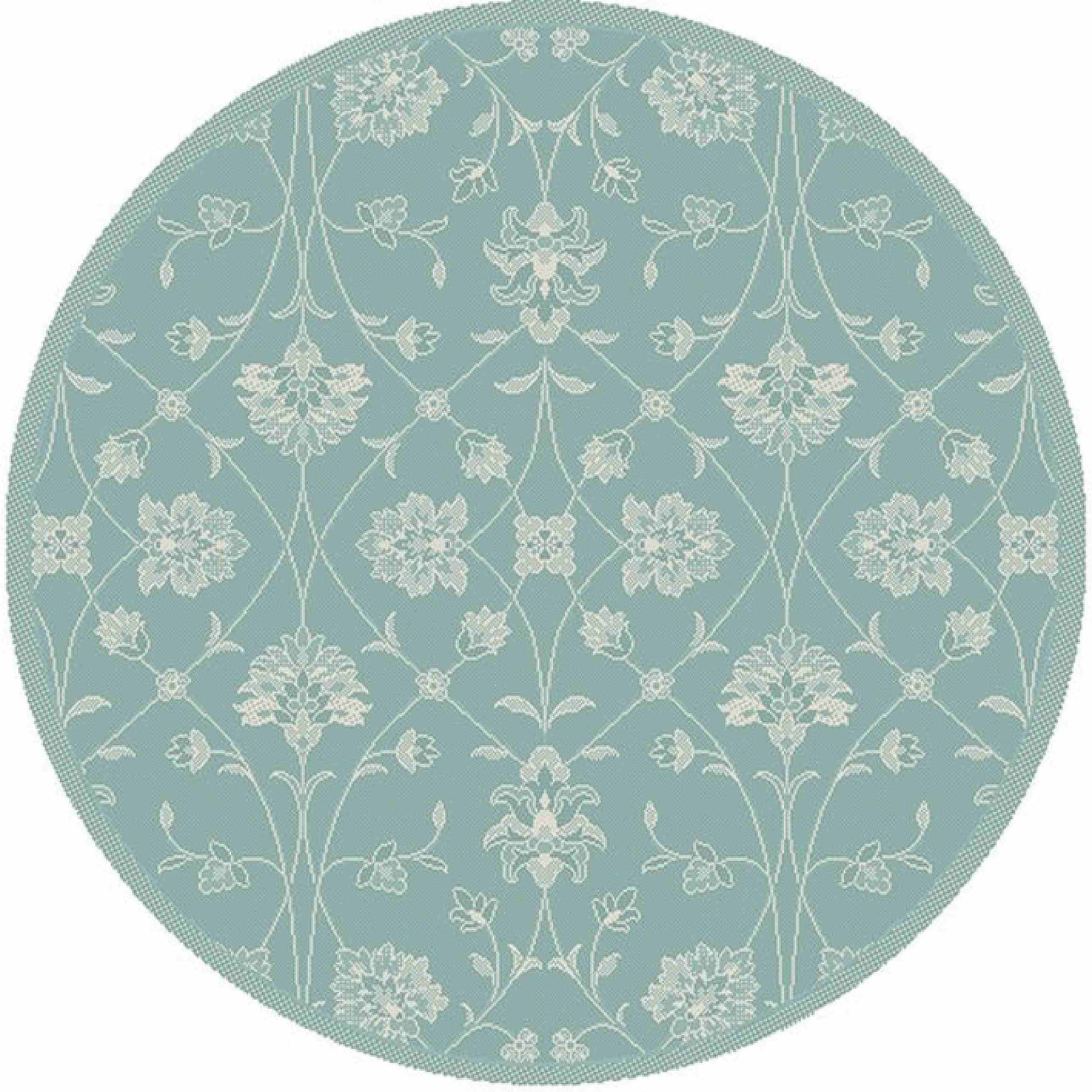 Dynamic Rugs Piazza Floral Blue 2744 Area Rug