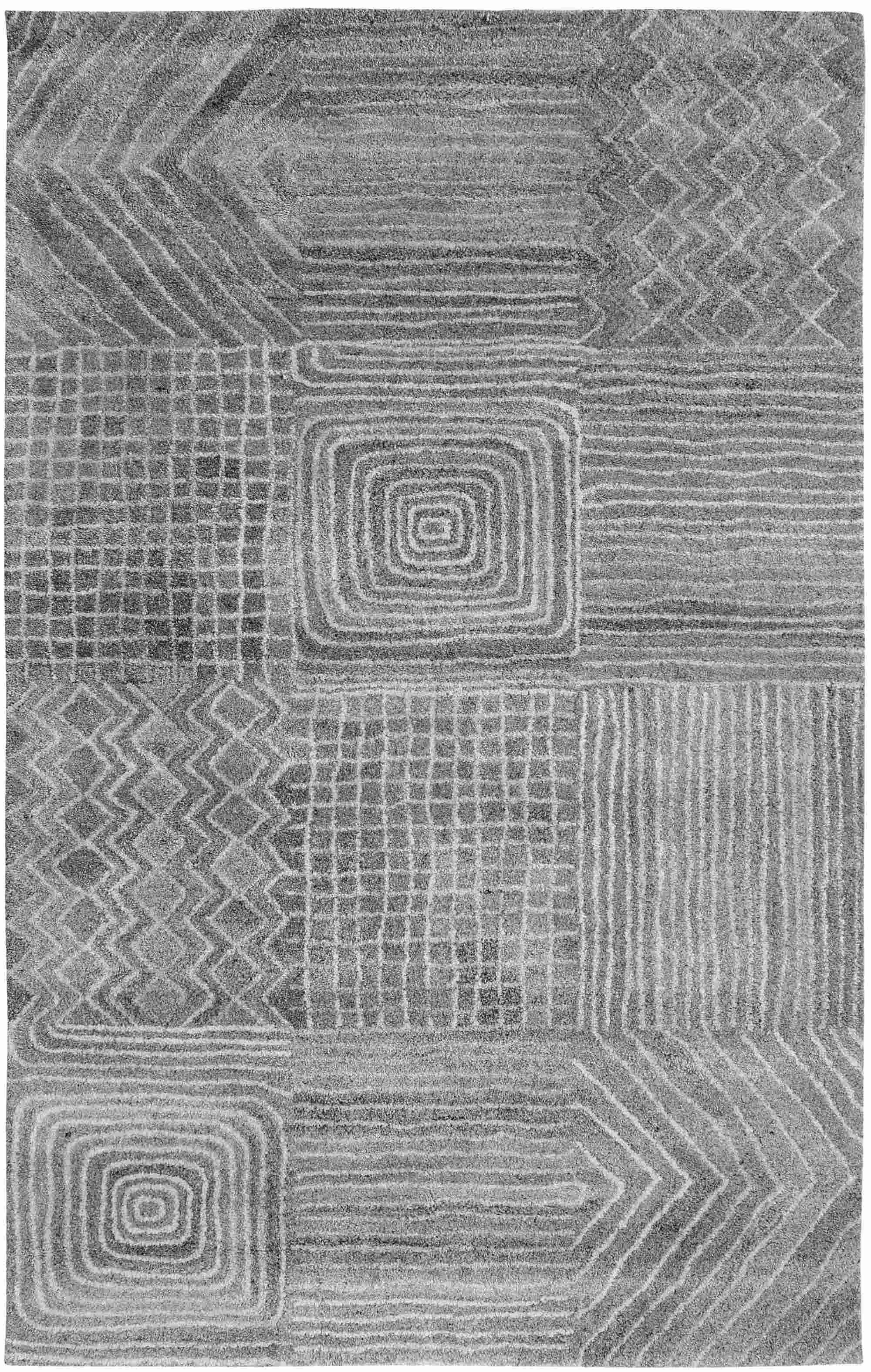 Dynamic Rugs Posh Geometric Grey 7804 Area Rug