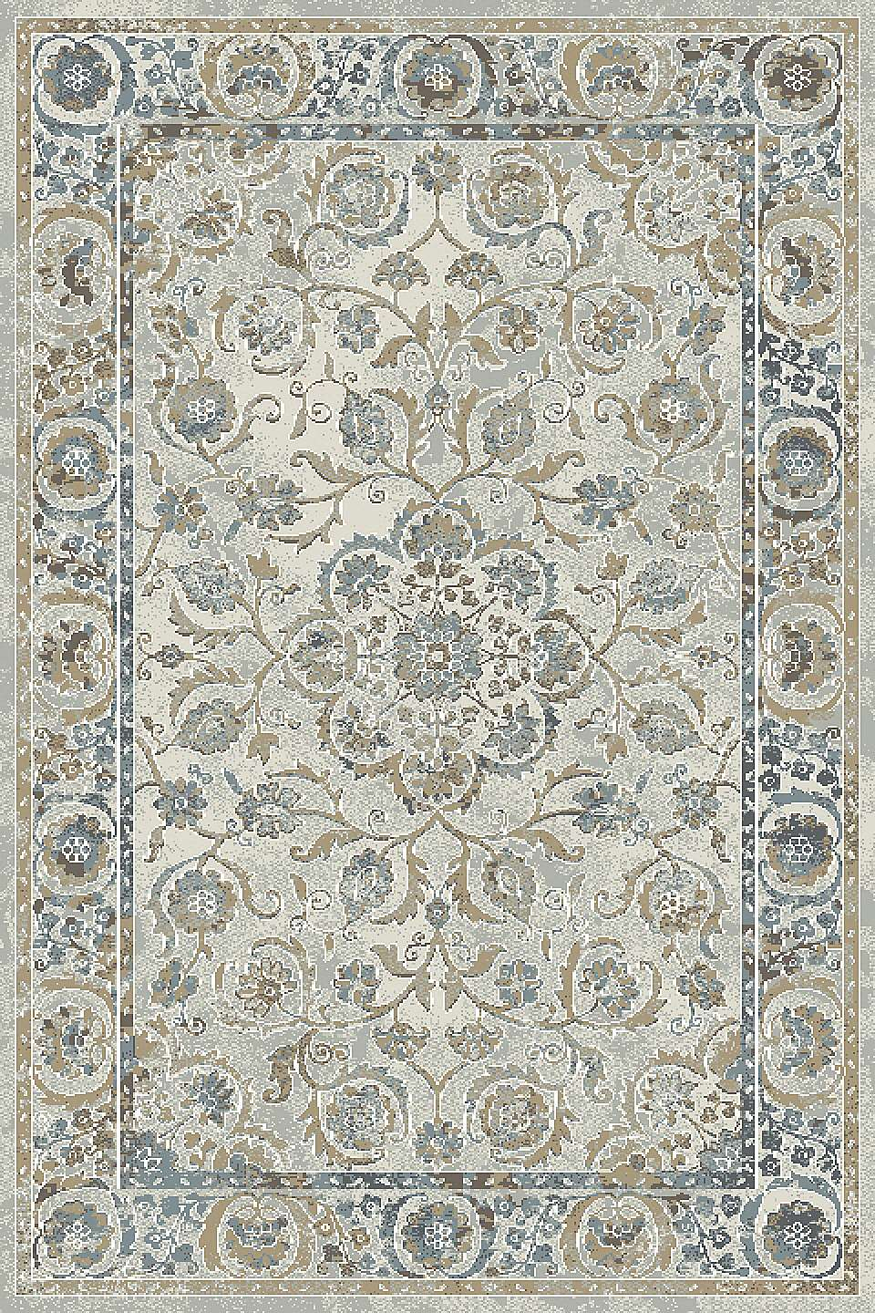 Dynamic Rugs Royal Treasure Distressed Soft Blue/mocha 90267 Area Rug
