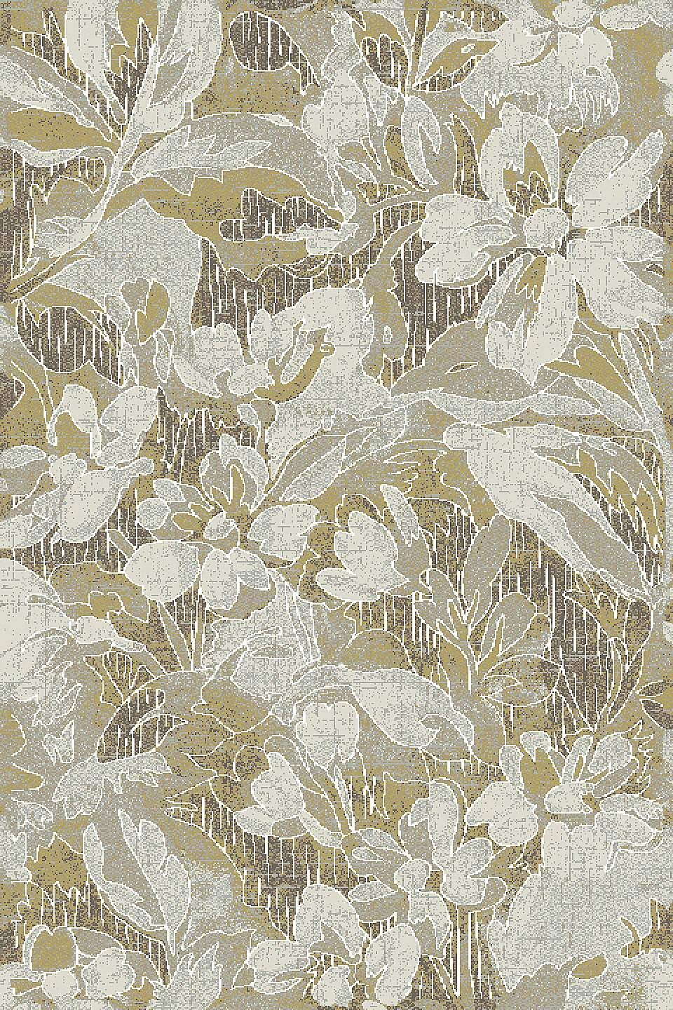 Dynamic Rugs Royal Treasure Floral Amber/mocha 90274 Area Rug