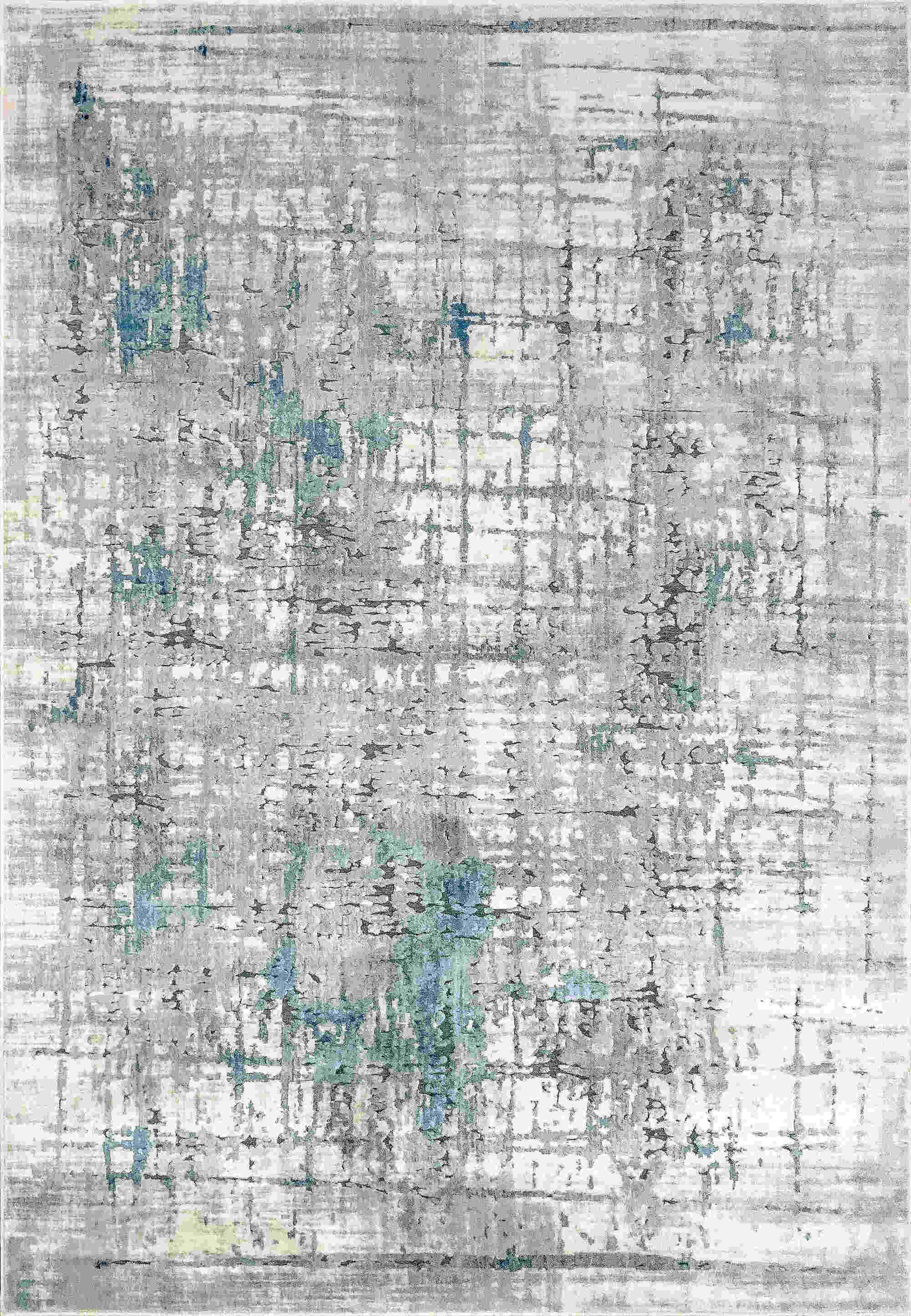 Dynamic Scout Ivory-blue Contemporary Rug 1681-150