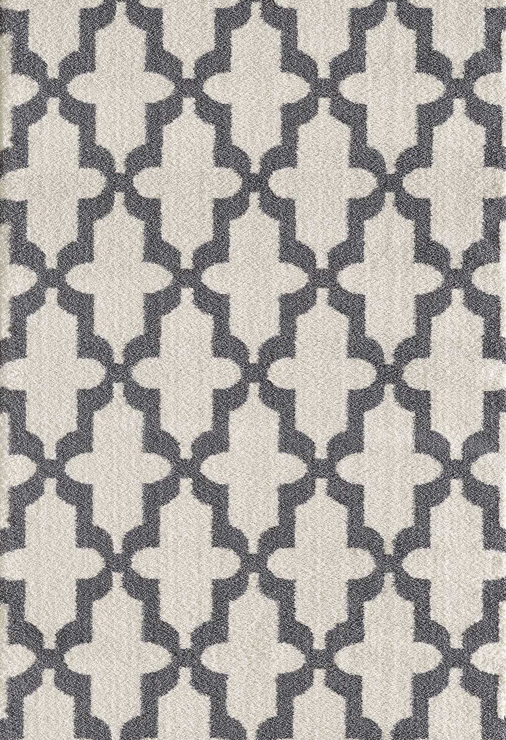 Dynamic Rugs Silky Shag Geometric White 5906 Area Rug