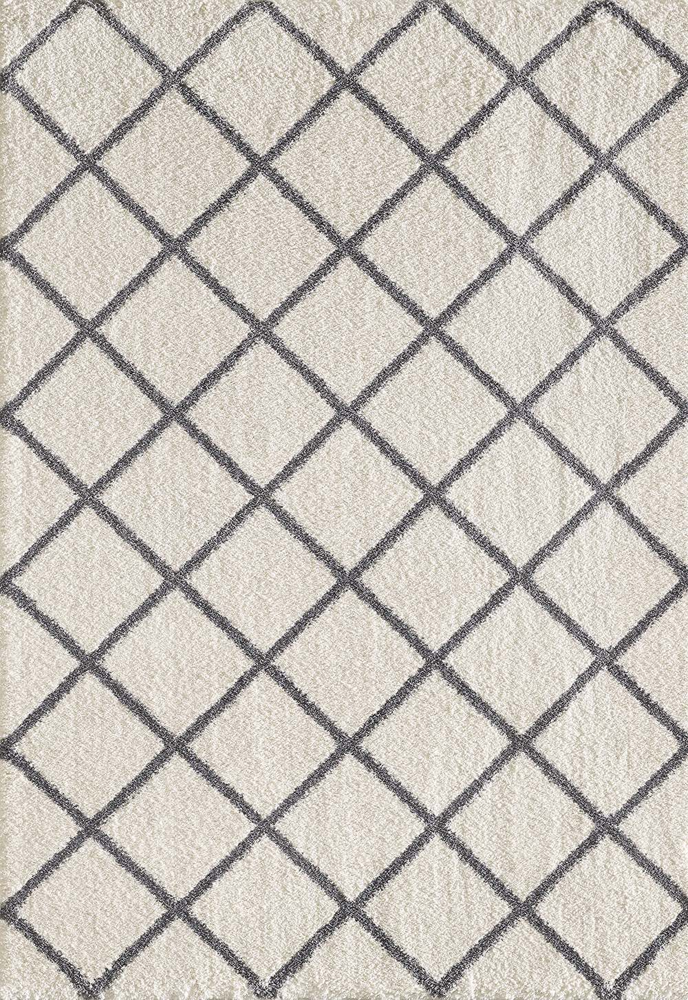 Dynamic Rugs Silky Shag Geometric Ivory/grey 5920 Area Rug