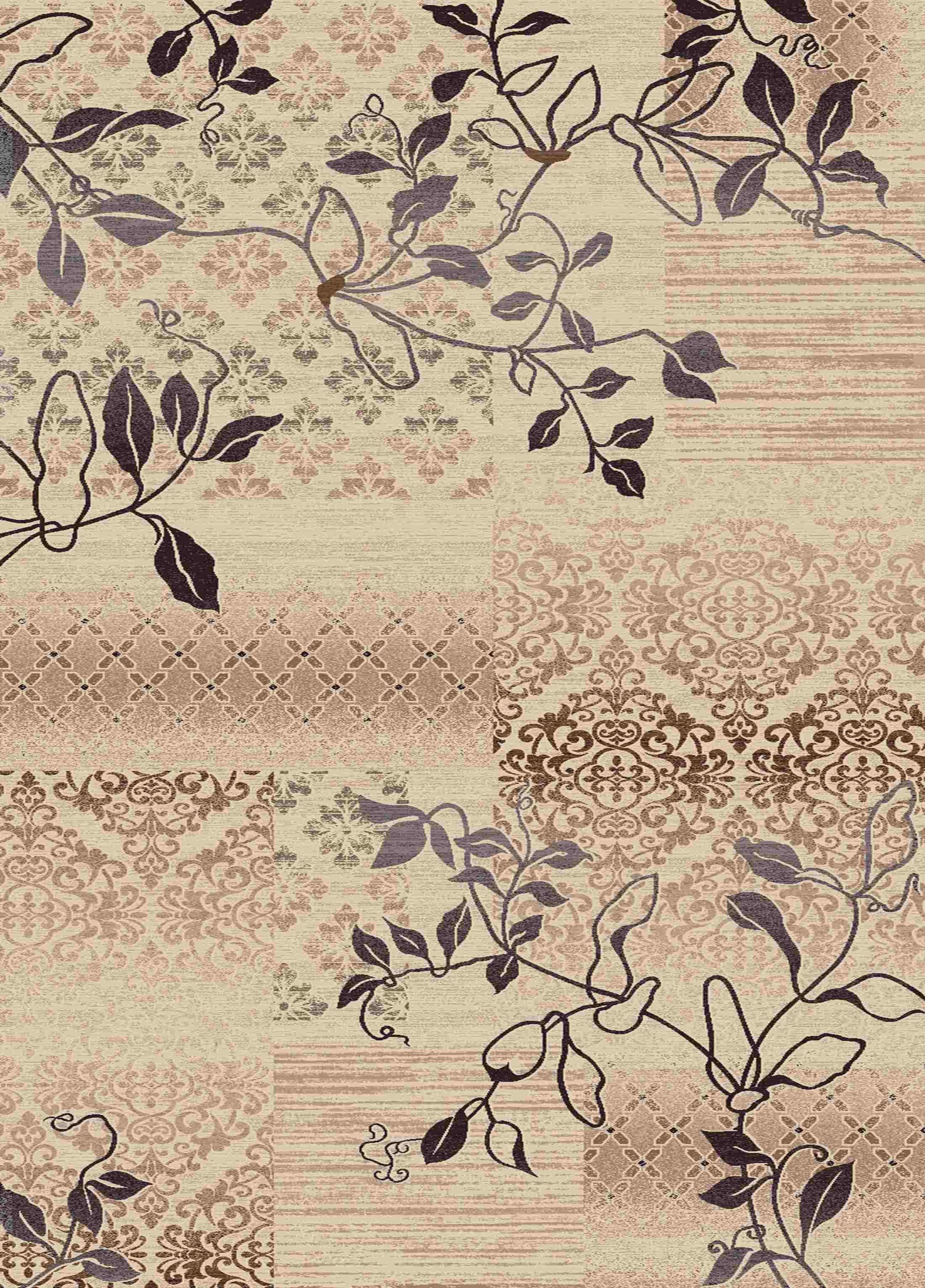 Dynamic Rugs Treasure Floral Cream 2196 Area Rug