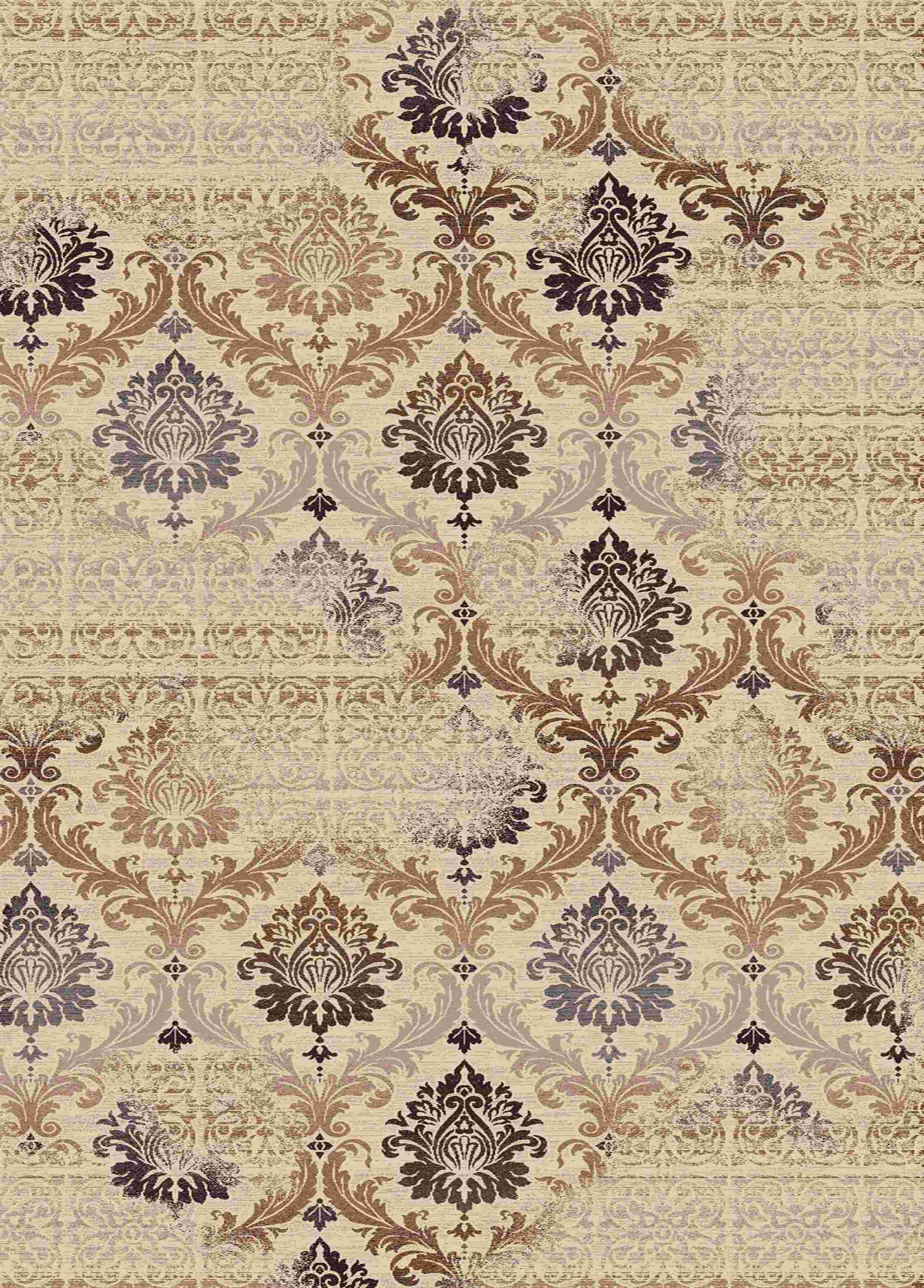 Dynamic Rugs Treasure Medallion/damask Cream 2198 Area Rug