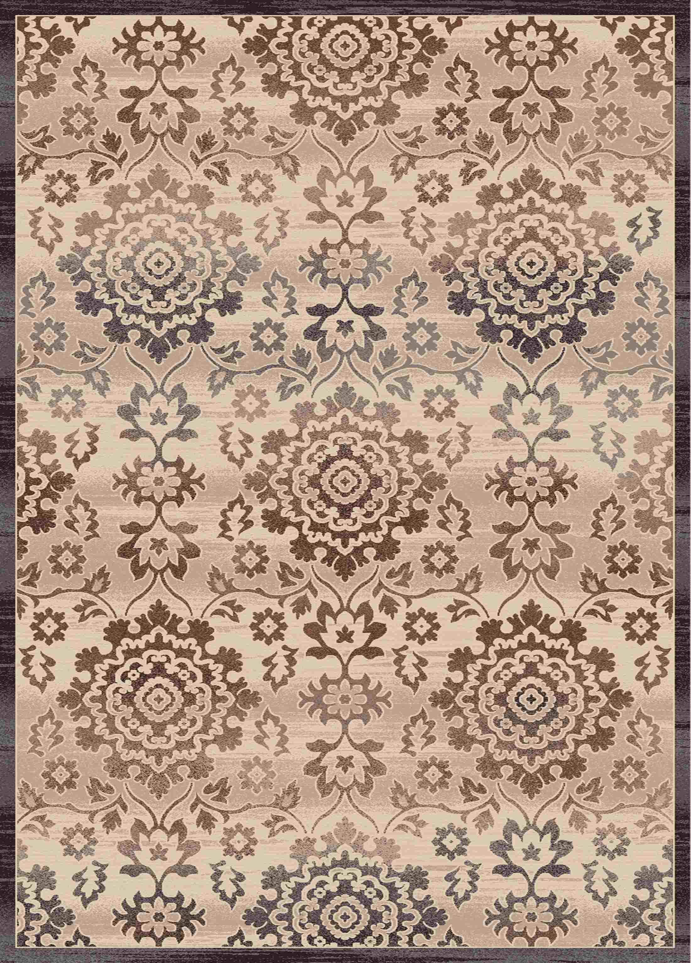 Dynamic Rugs Treasure Medallion/damask Cream 4362 Area Rug