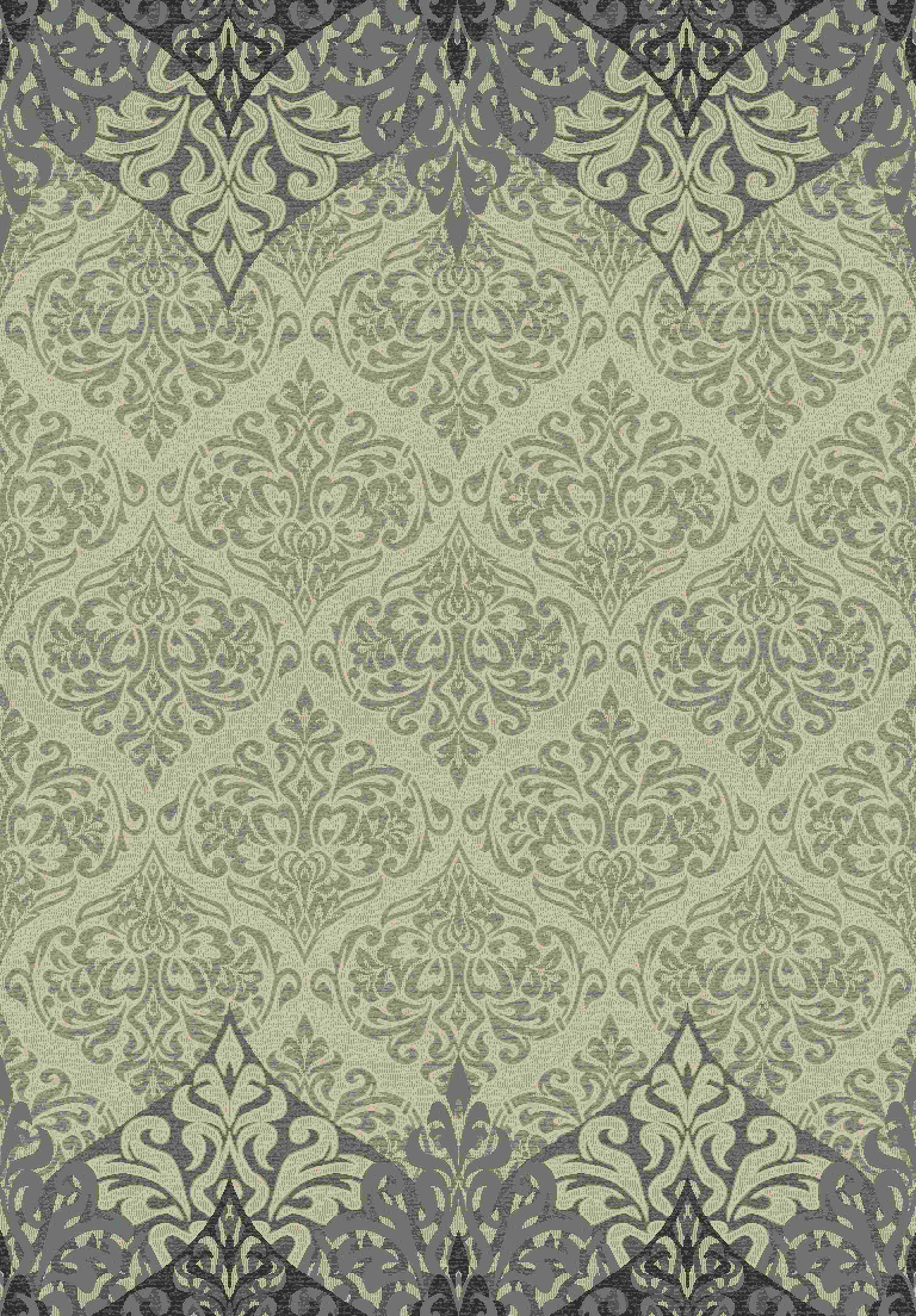 Dynamic Rugs Treasure Ii Medallion/damask Beige 4299 Area Rug