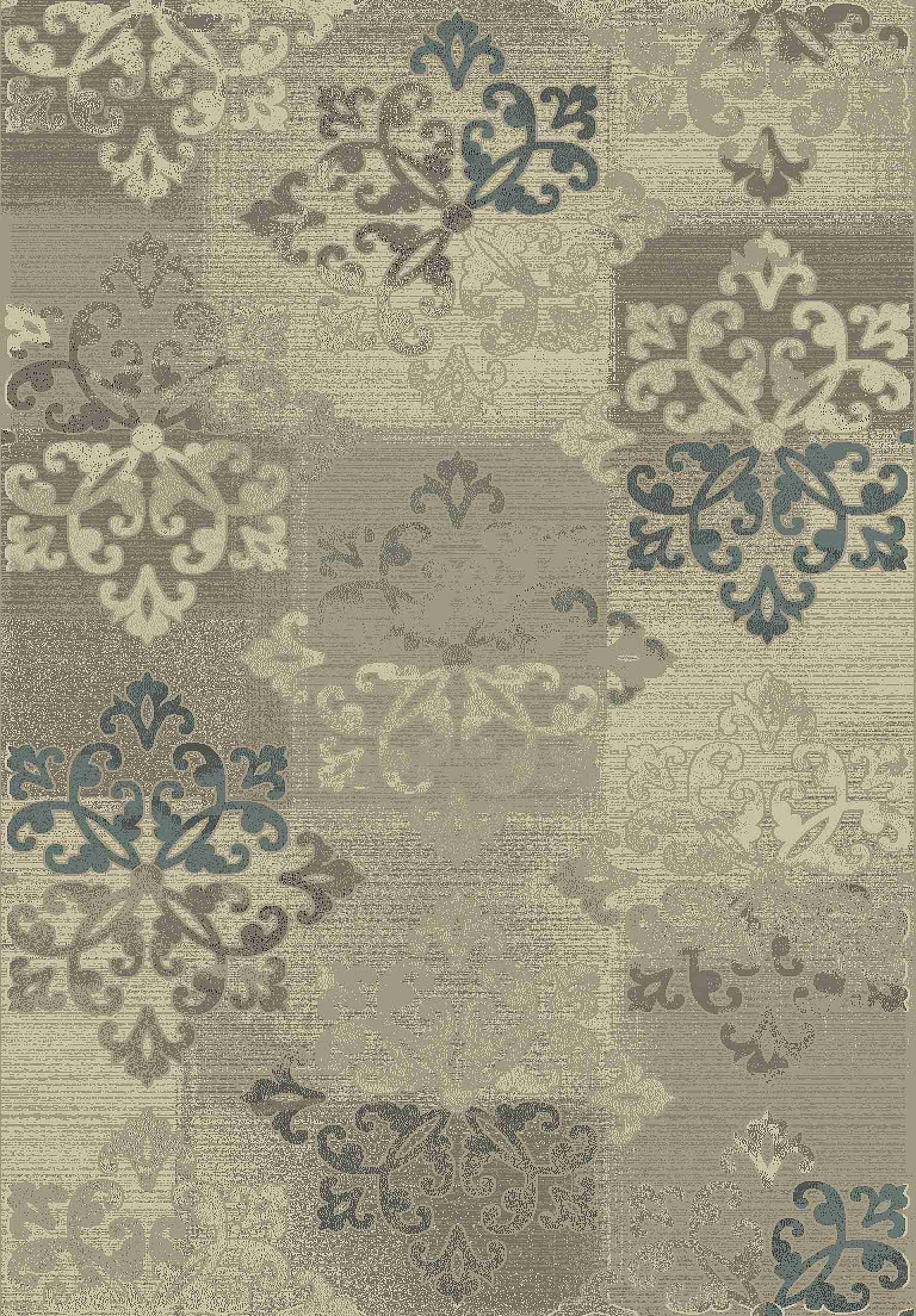 Dynamic Rugs Treasure Ii Medallion/damask Beige 4691 Area Rug