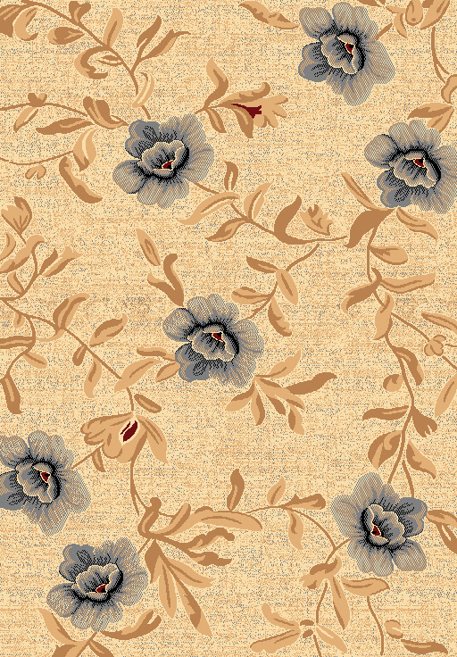 Dynamic Rugs Yazd Floral Cream 1800 Area Rug