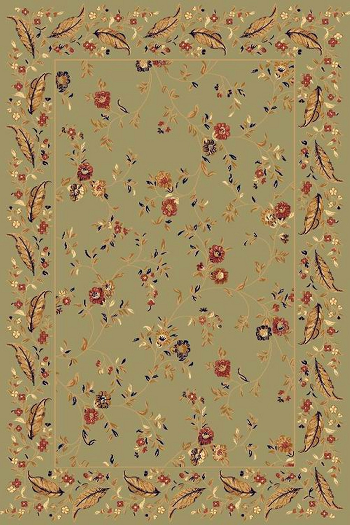 Dynamic Rugs Yazd Floral Green-green 2801 Area Rug