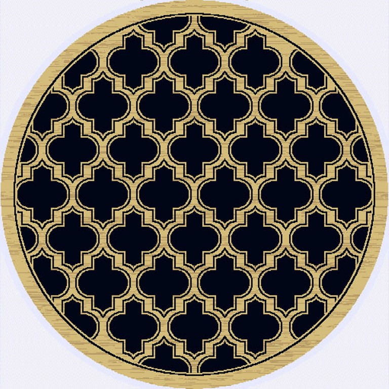 Dynamic Rugs Yazd Geometric Black 2816 Area Rug