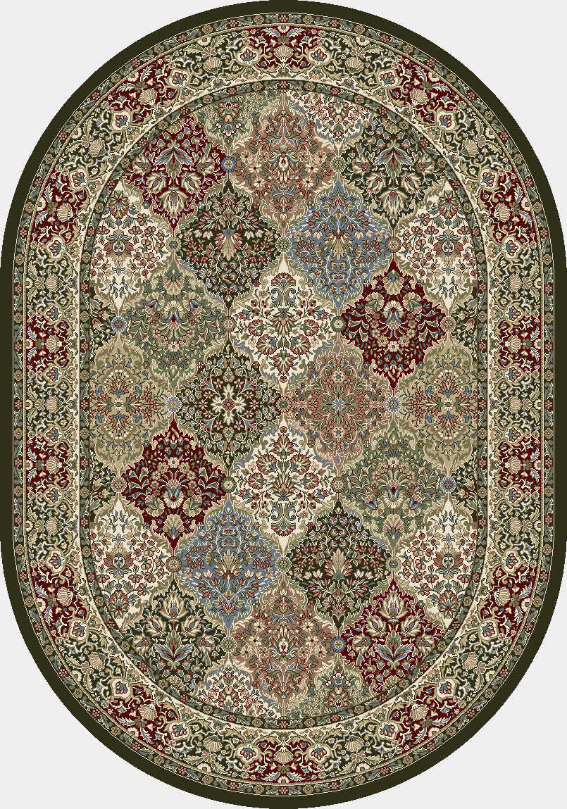 Ancient Garden 2.7x4.7 Oval 57008-3233