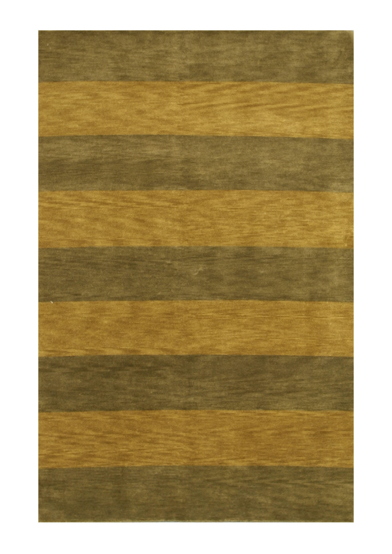 Eorc 16306 Green Hand Knotted Wool Stripe Rug