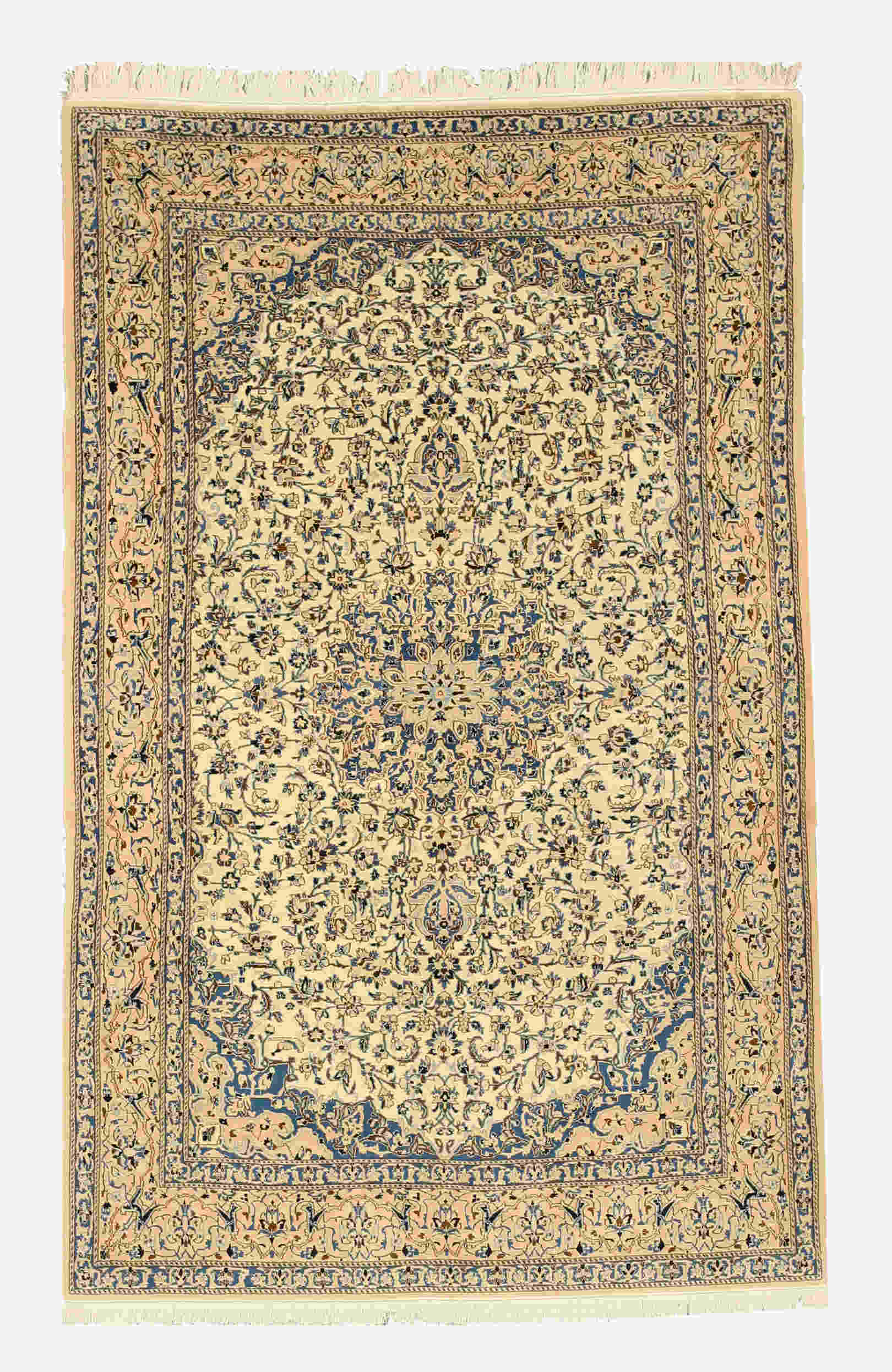 Eorc 4042 Ivory Hand Knotted Wool & Silk Naiin Rug