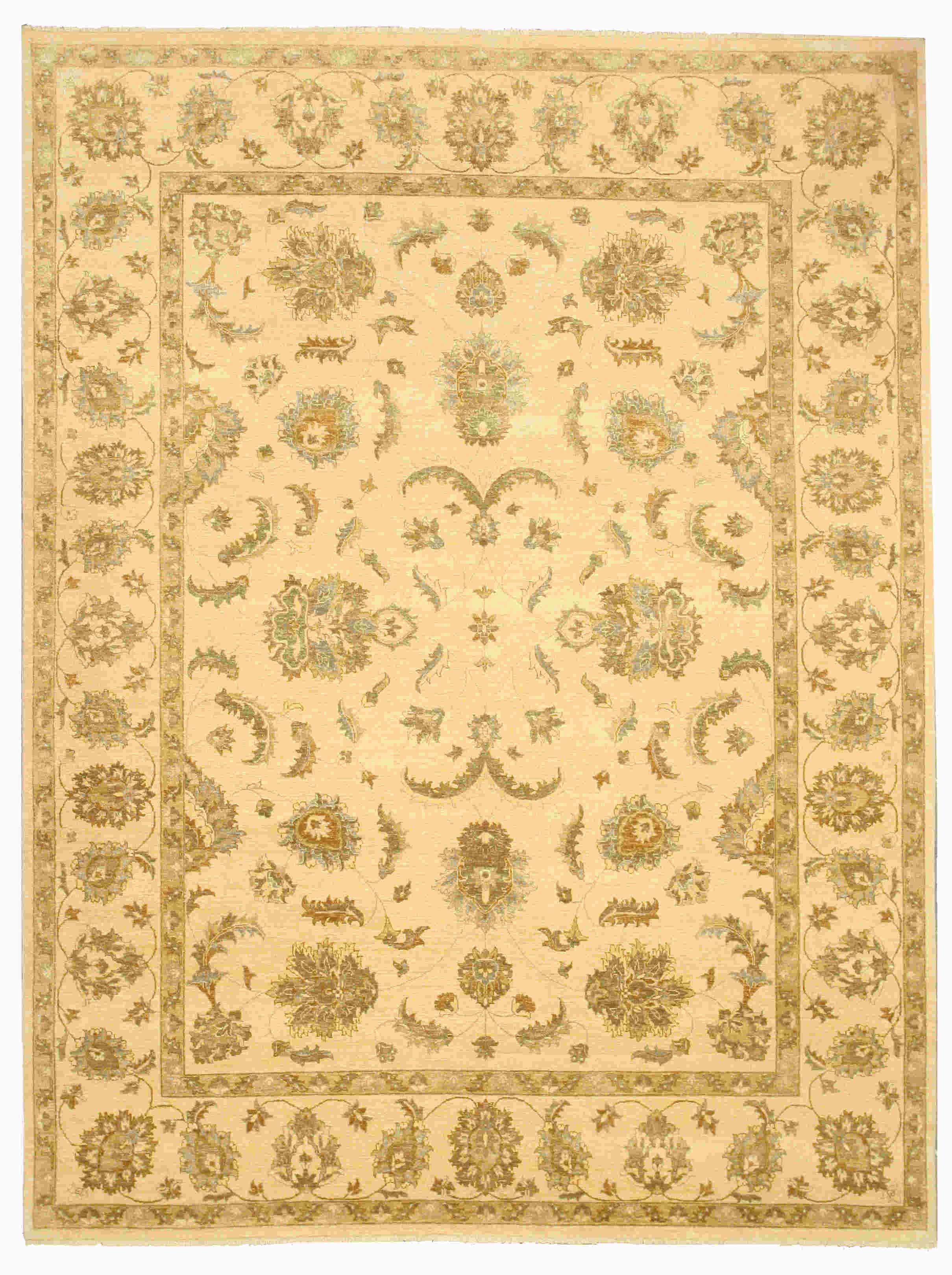 EORC 9123 Ivory Hand Knotted Wool Agra Rug