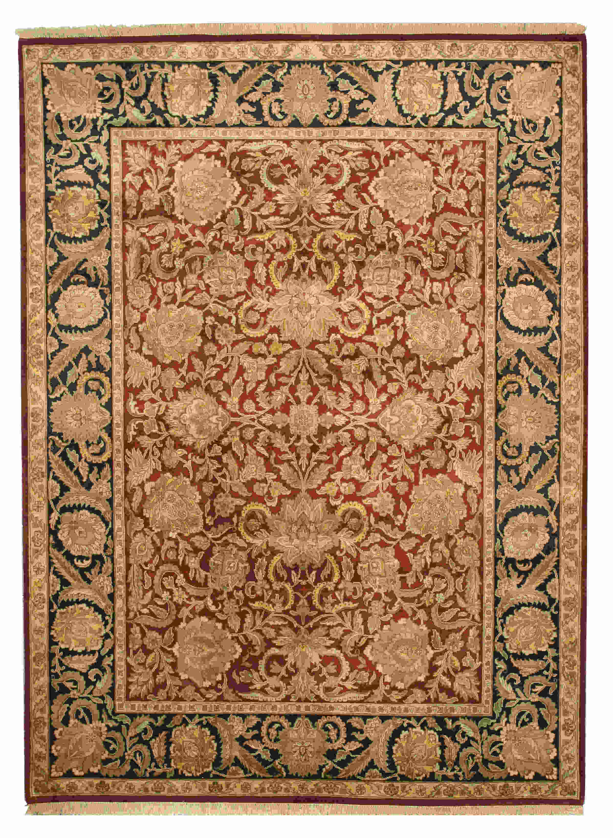 Eorc 9131 Red Hand Knotted Wool Jaipur Rug