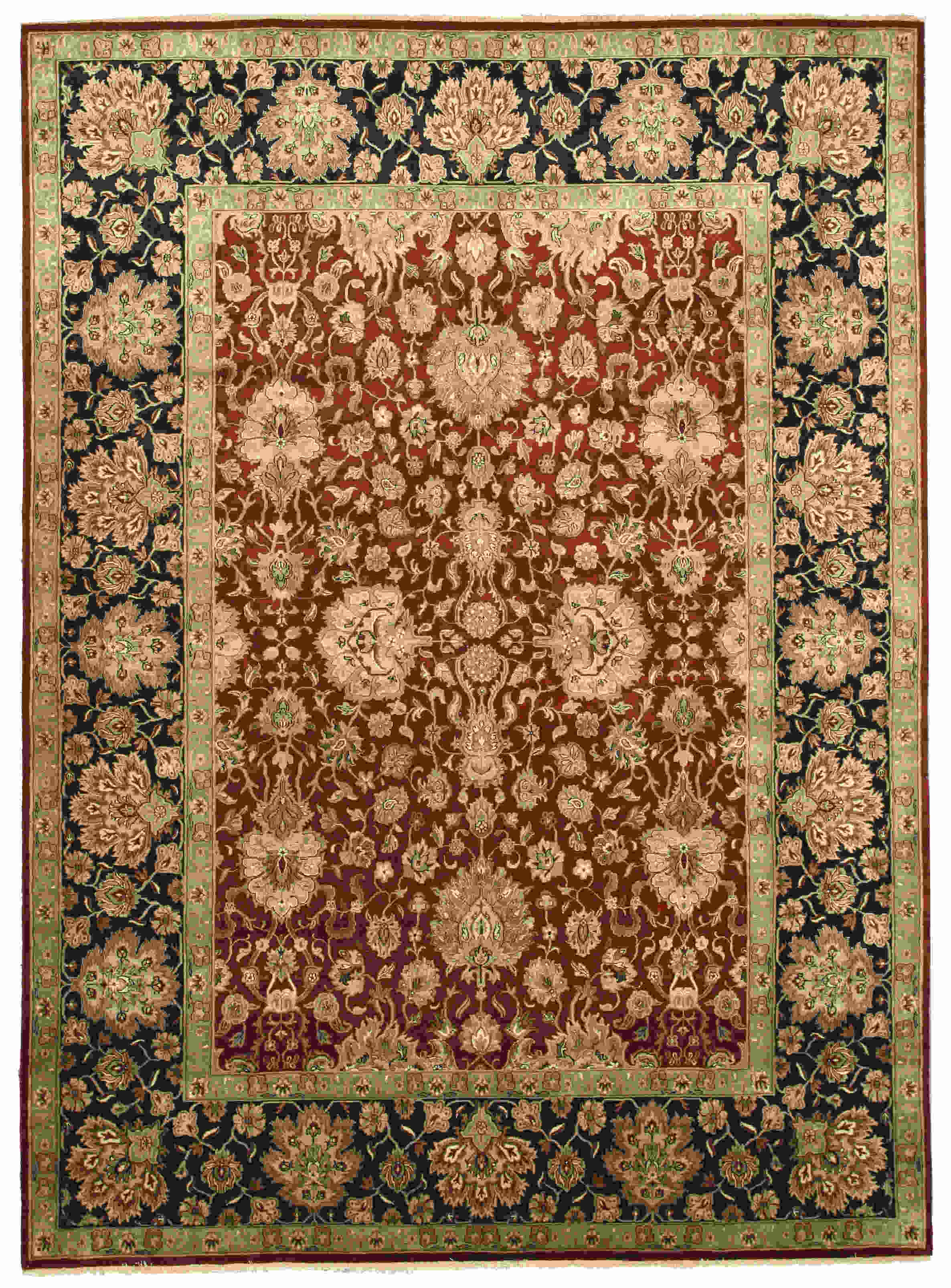 Eorc 9181 Red Hand Knotted Wool Jaipur Rug
