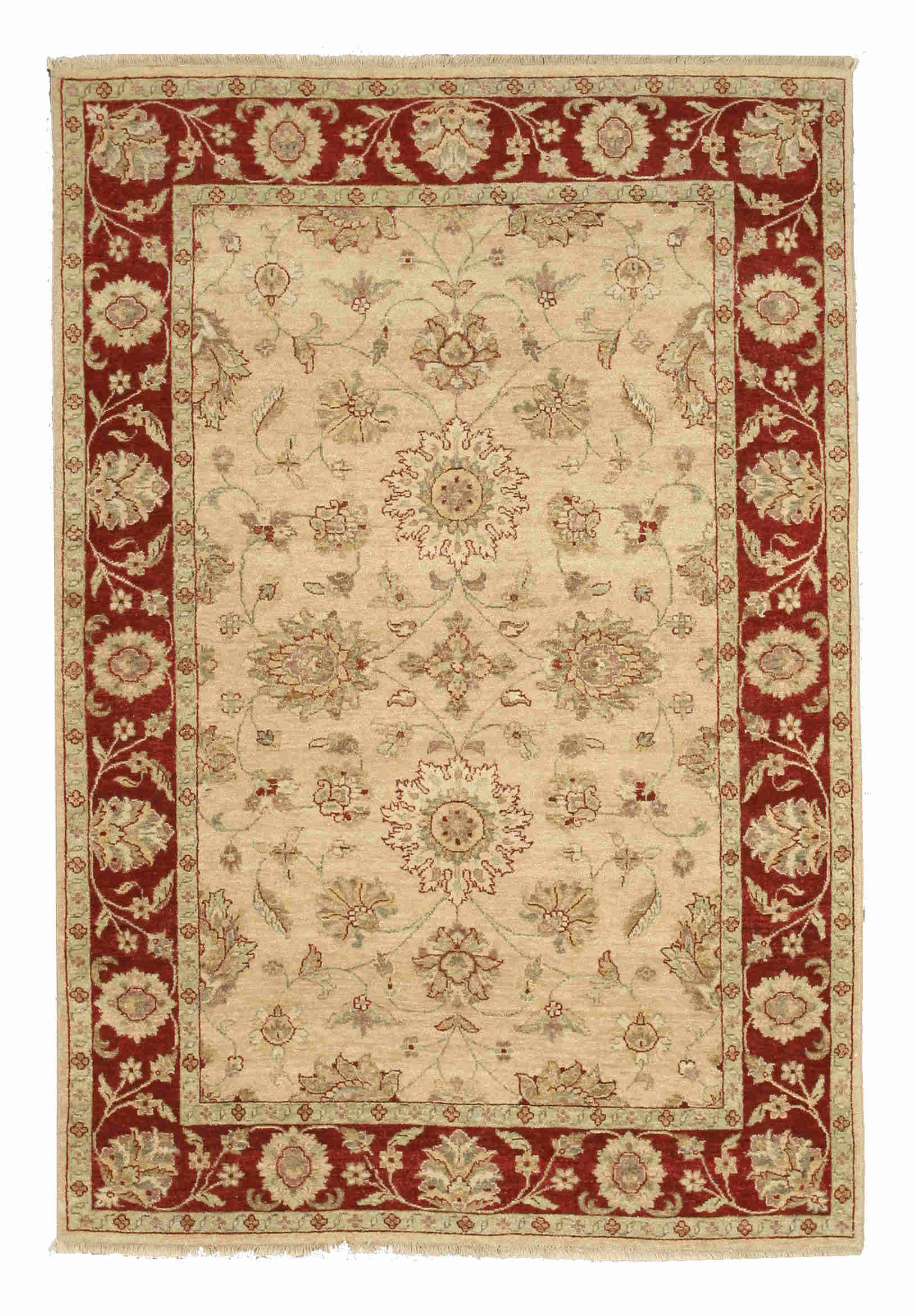 Eorc 9186 Beige Hand Knotted Wool Agra Rug