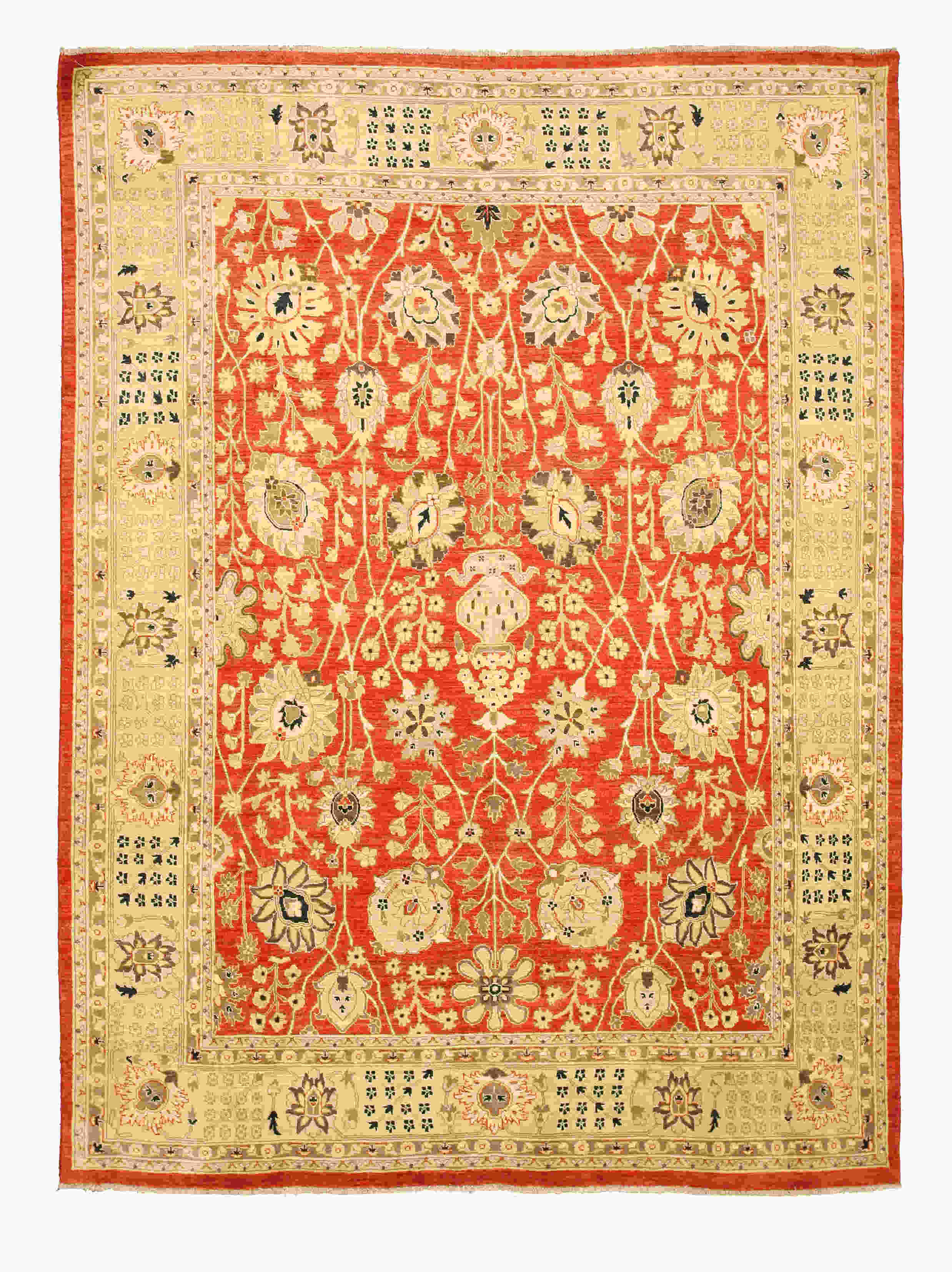 Eorc 9257 Red Hand Knotted Wool Peshawar Rug