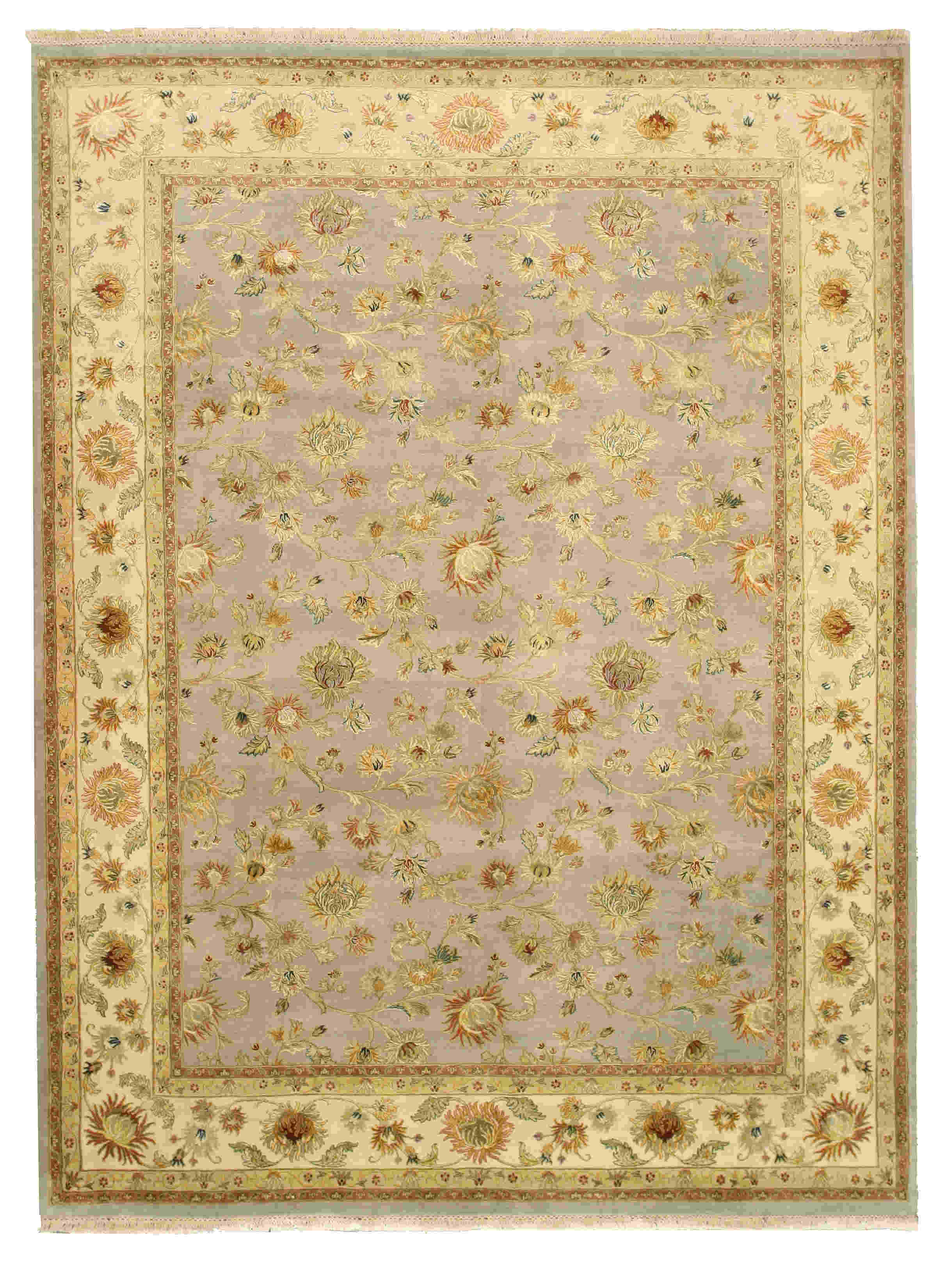 Eorc Cra31bl Blue Hand Knotted Wool Jaipur Rug