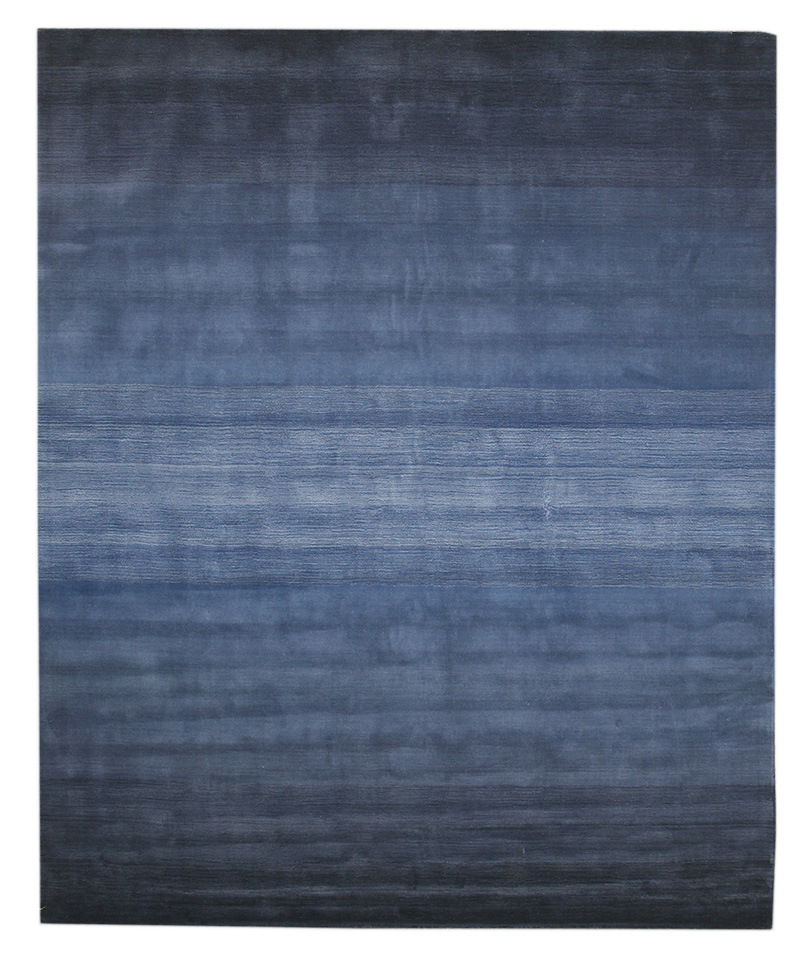 Eorc Hl2bl Blue Hand Tufted Wool Blue Horizon Rug