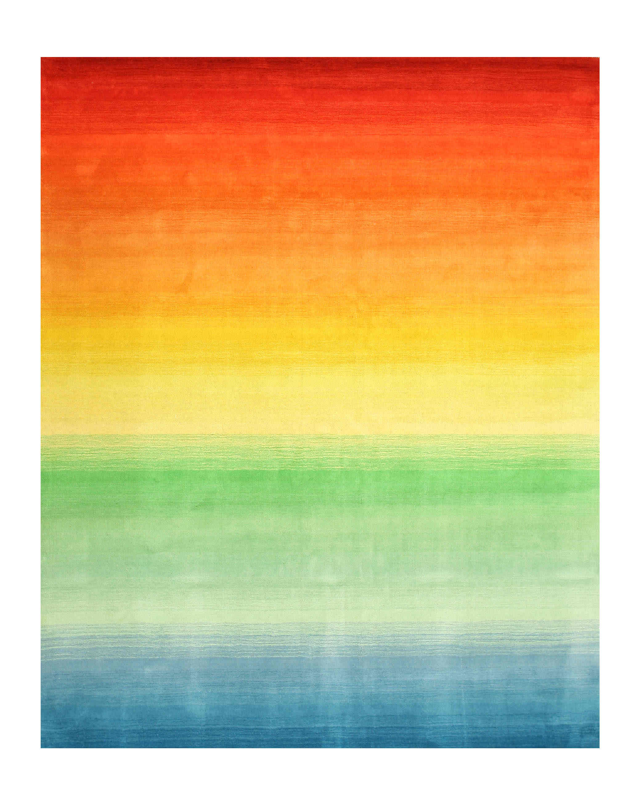 Eorc Hl4mu Multi-colored Hand Tufted Wool Rainbow Rug