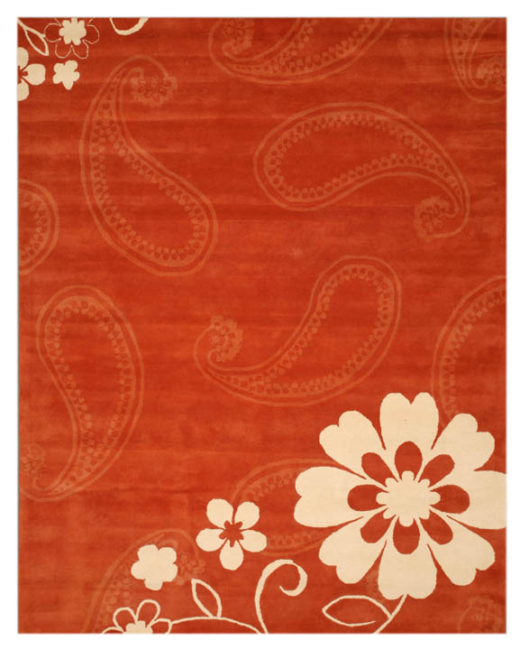 Eorc Ie20 Rust Hand Tufted Wool Ron Rug