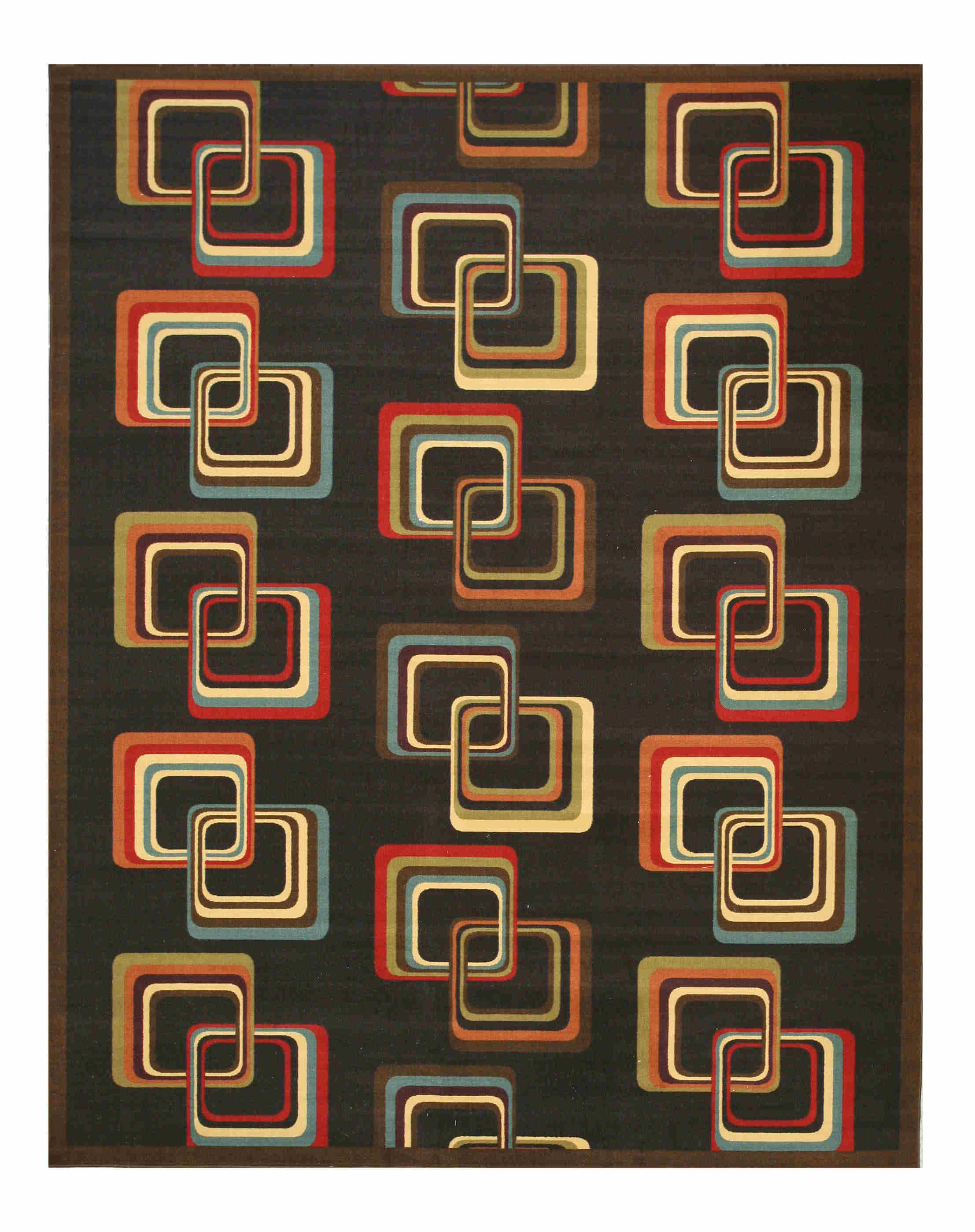 Eorc Os5090bk Black Retro-chick Rug
