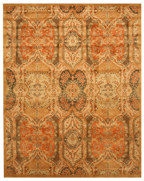 Eorc T63gd Gold Hand Tufted Wool Piazza Rug