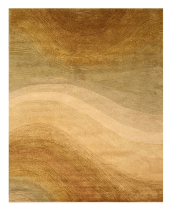 Eorc T69be Gold Hand Tufted Wool Morono Rug