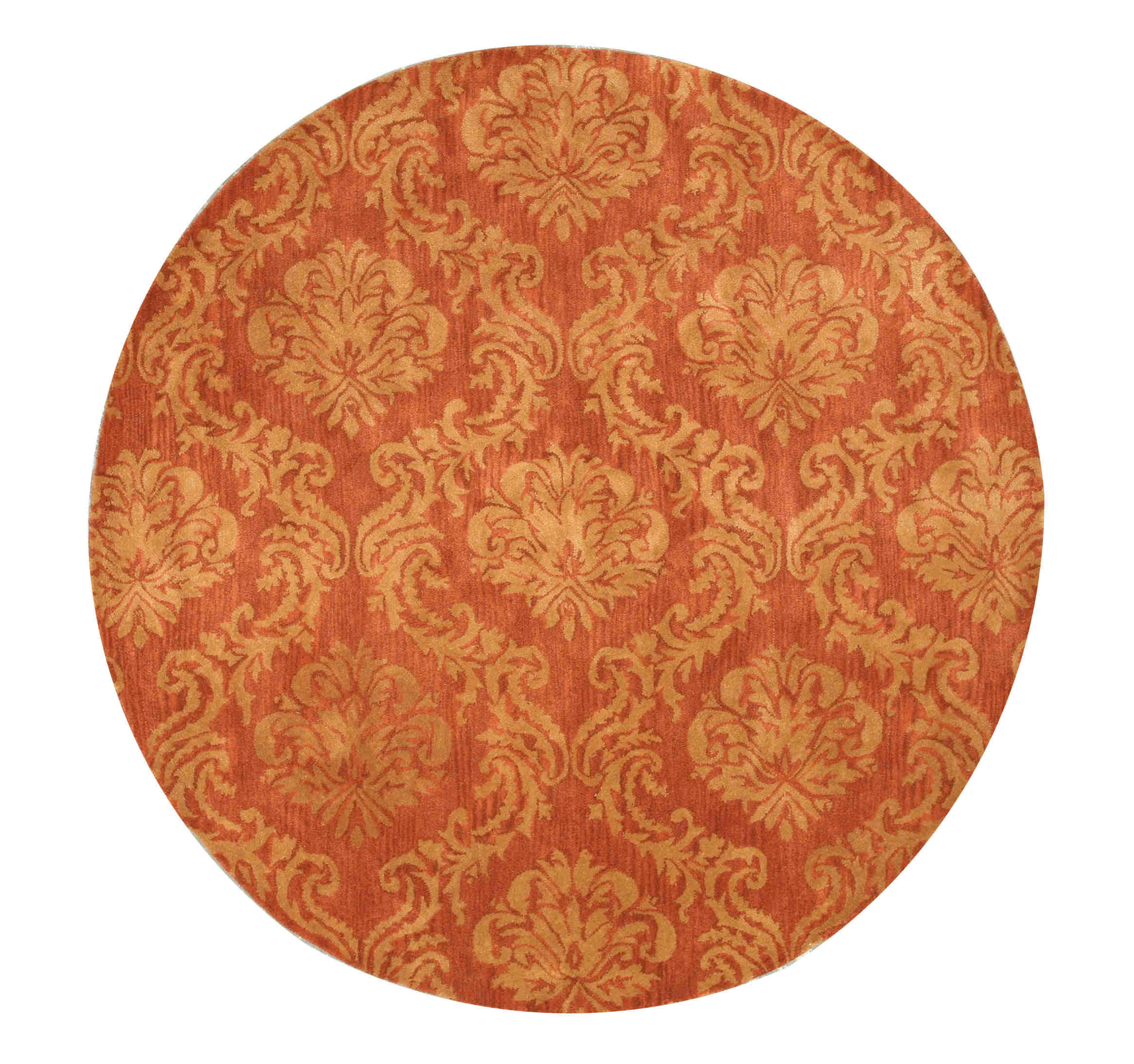 Eorc T97rd Rust Hand Tufted Wool Mona Rug