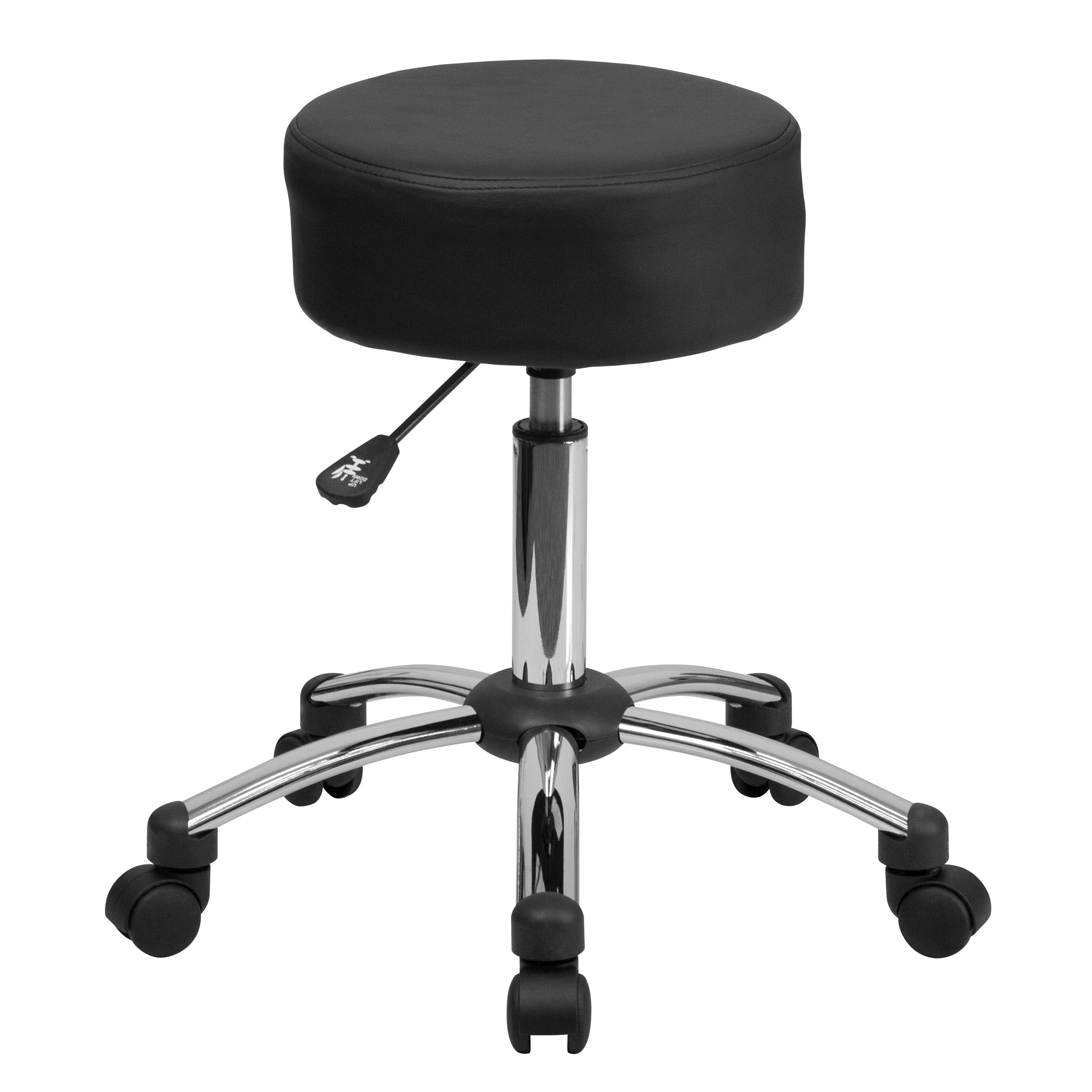 Backless ergonomic chair - Flash Furniture Backless Stool Thick Padded Seat