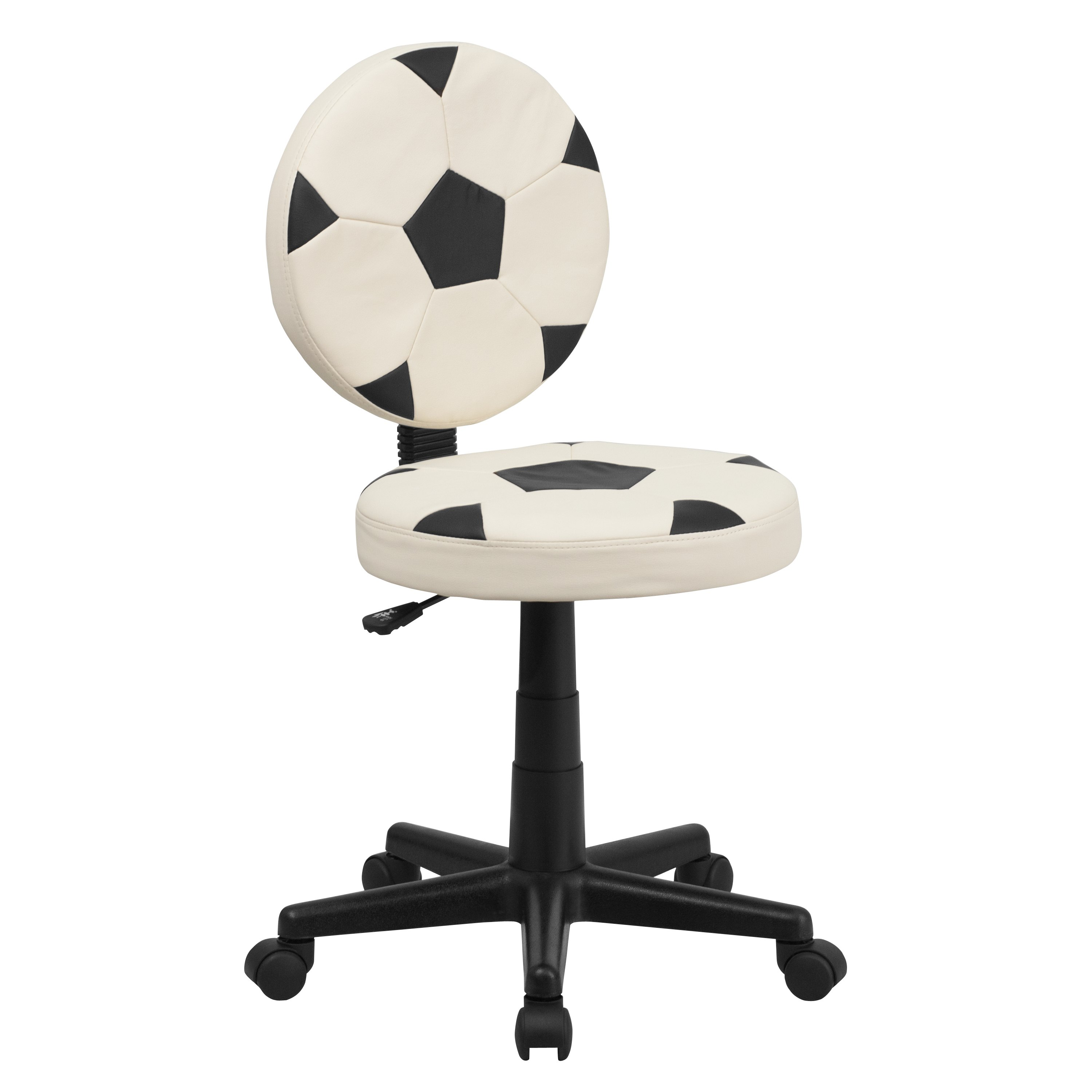 Flash Furniture  Soccer Style Task Chair Black And White Stitched Soccer Ball Pattern