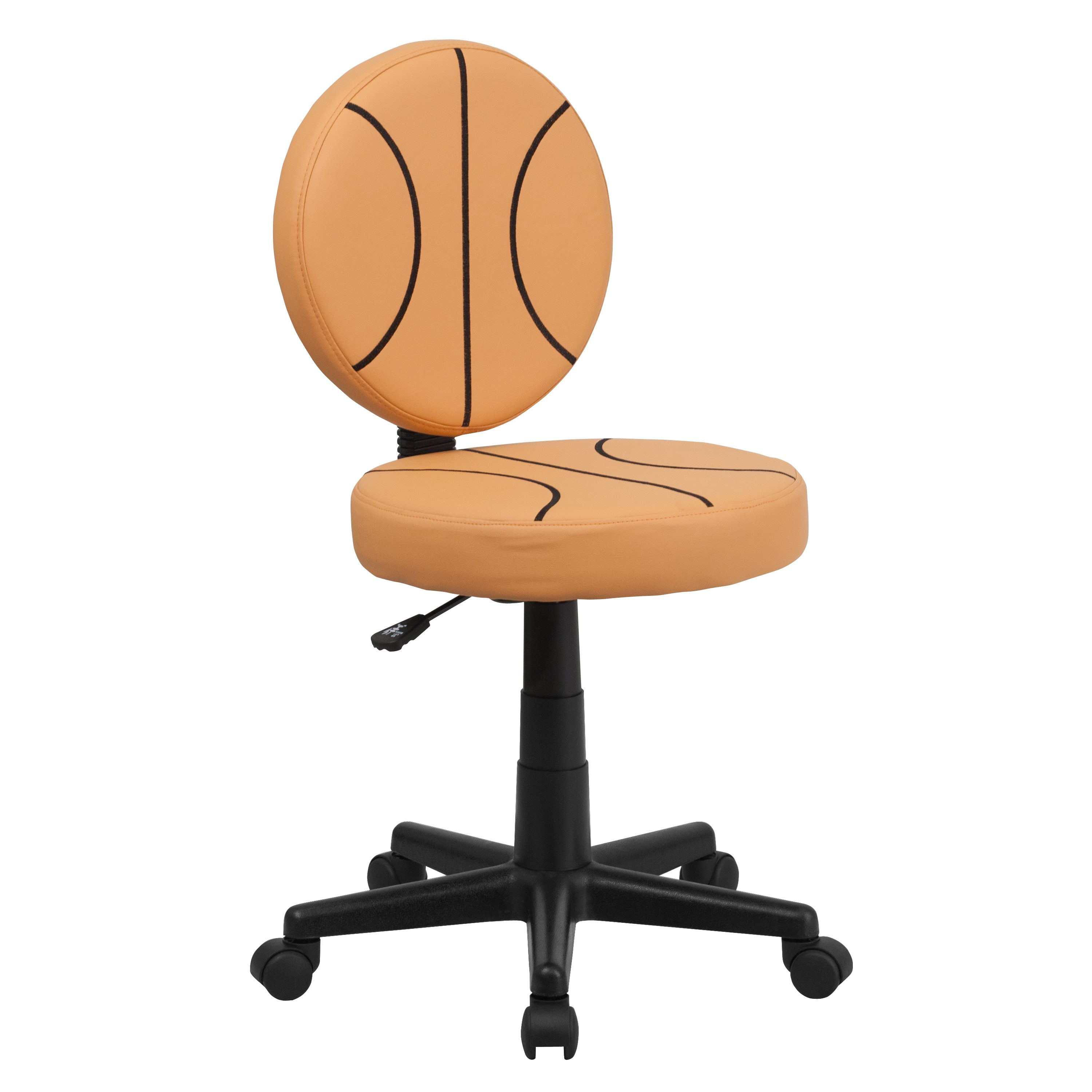 Flash Furniture  Basketball Style Task Chair Orange And Black Stitched Basketball Pattern