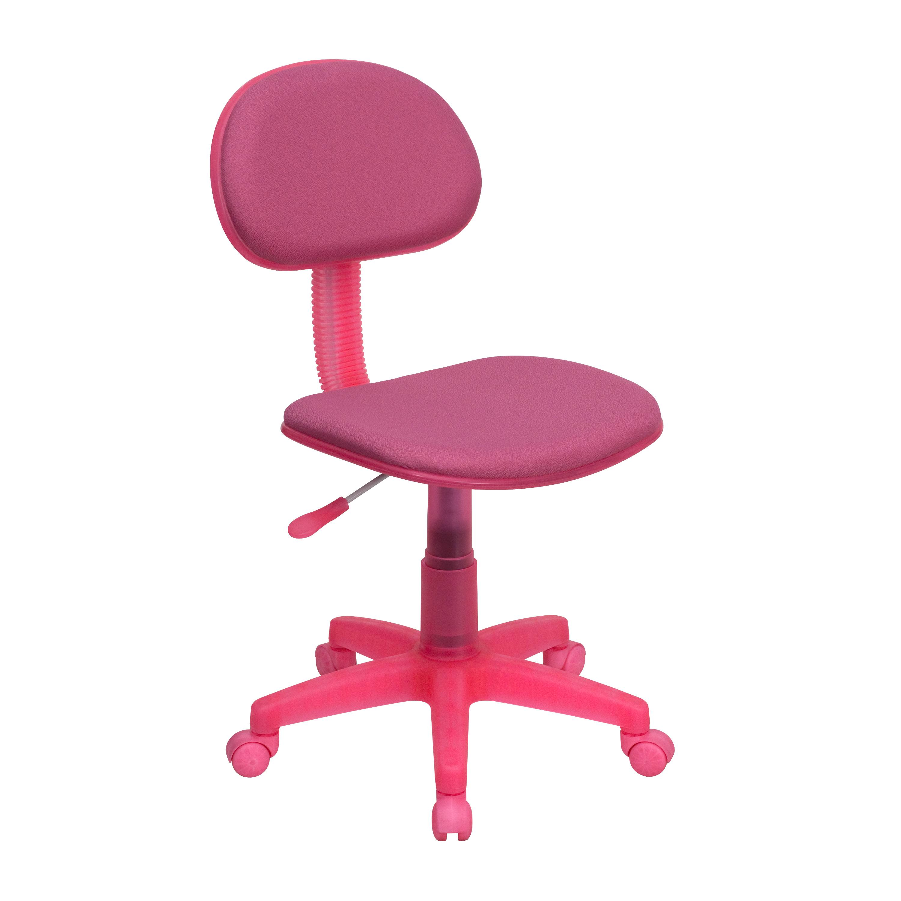 Flash Furniture  Small Back Student Chair Pink Fabric Upholstery