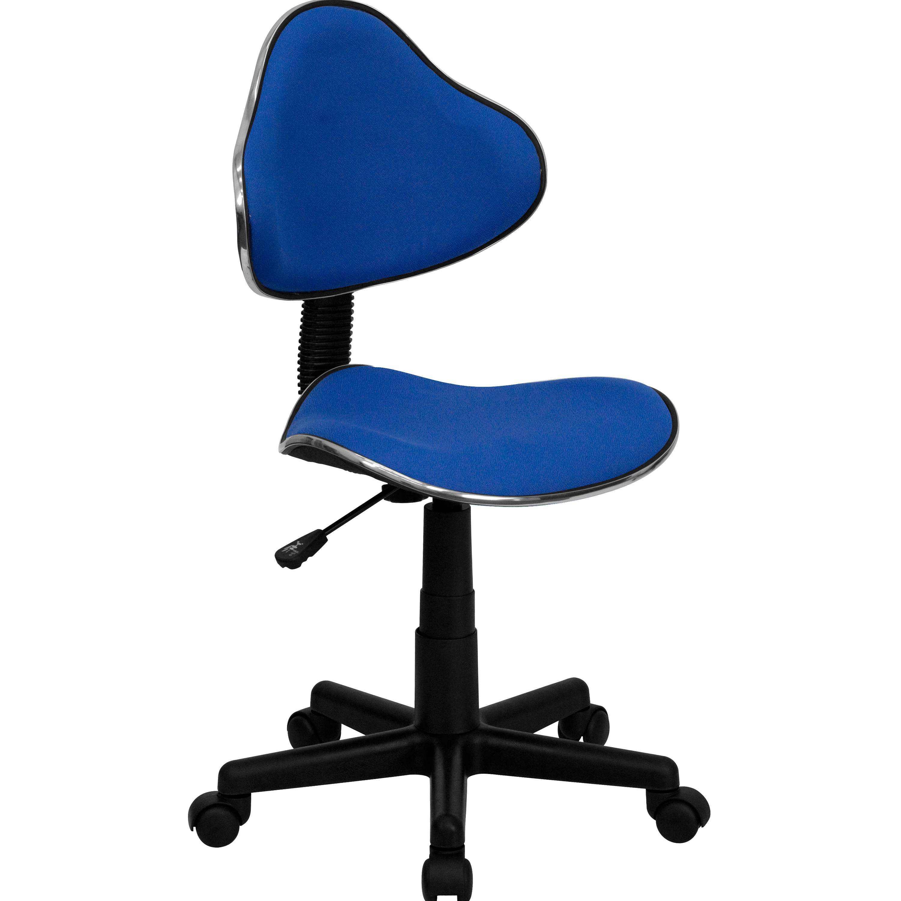 Flash Furniture  Small Back Student Task Chair Blue Fabric Upholstery