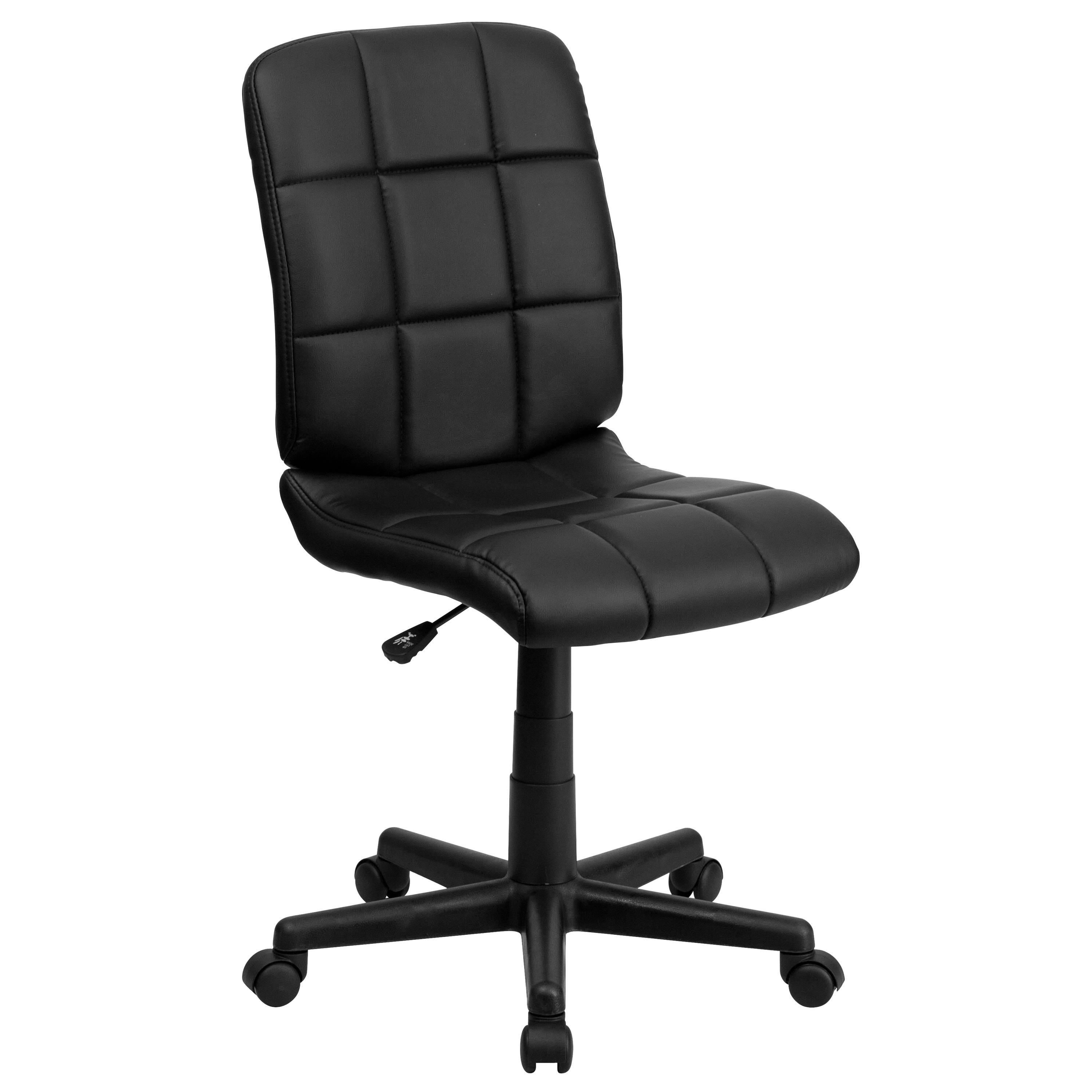 Flash Furniture  Mid-back Swivel Computer Chair Black Vinyl Upholstery