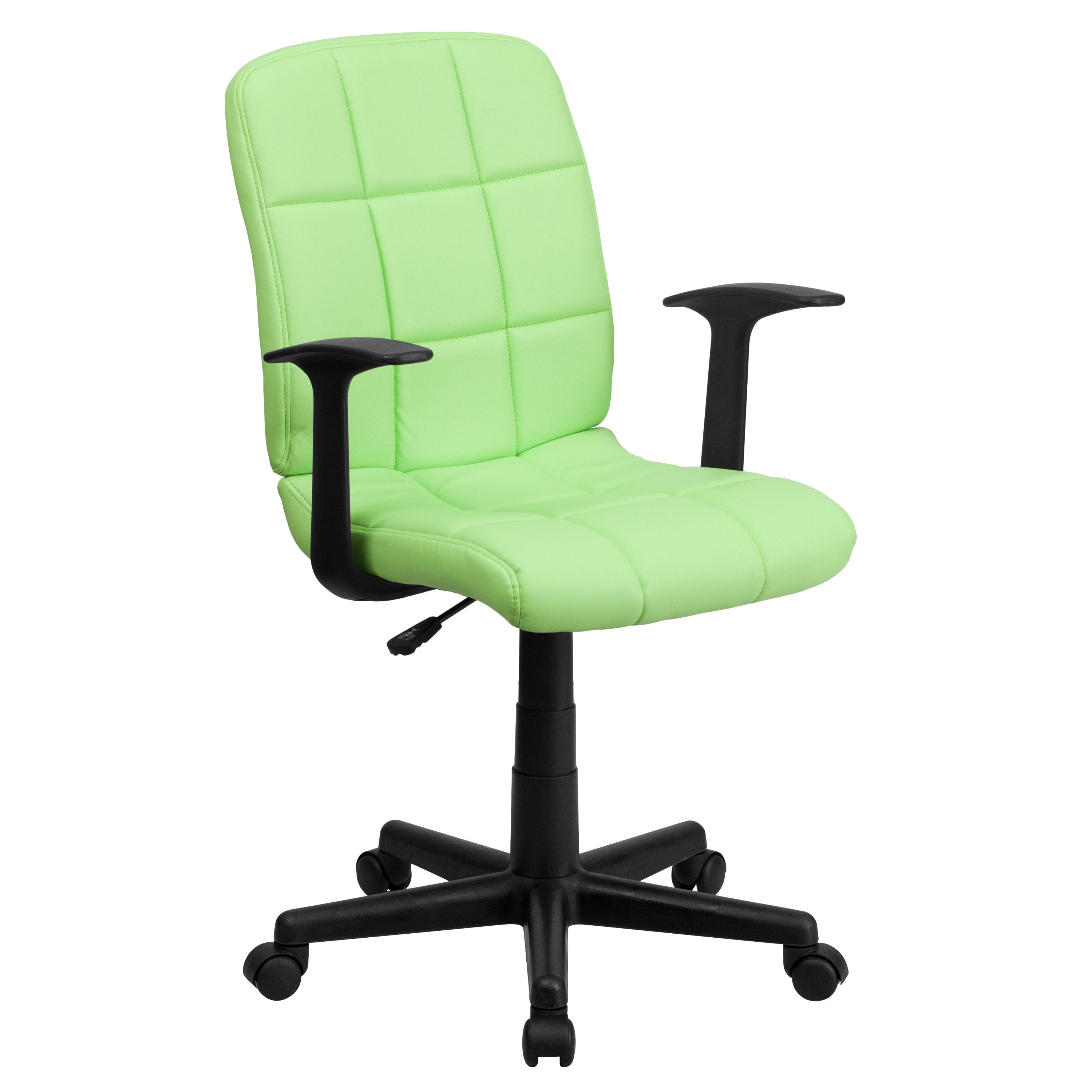 Flash Furniture  Mid-back Swivel Computer Chair Green Vinyl Upholstery