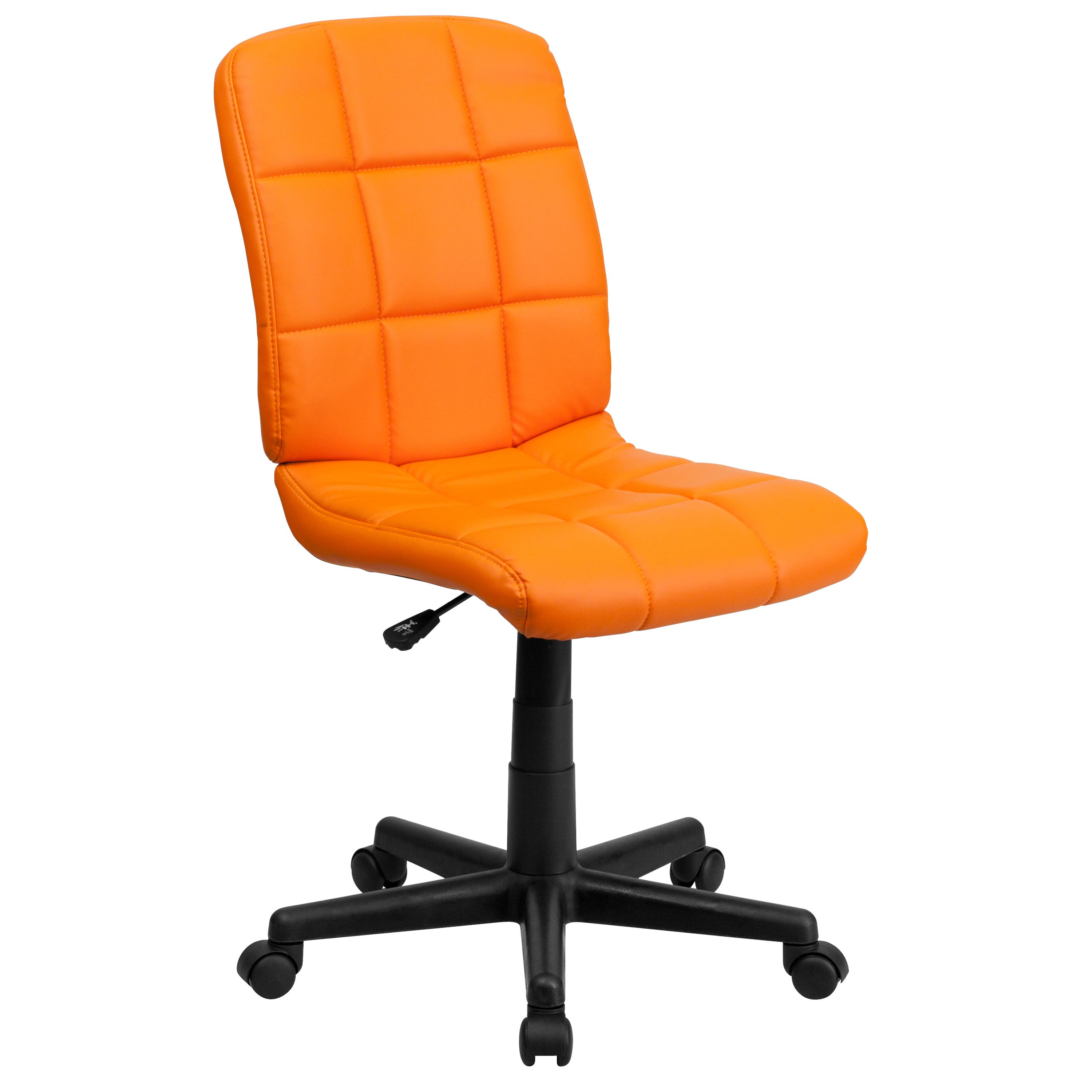 Flash Furniture  Mid-back Swivel Computer Chair Orange Vinyl Upholstery