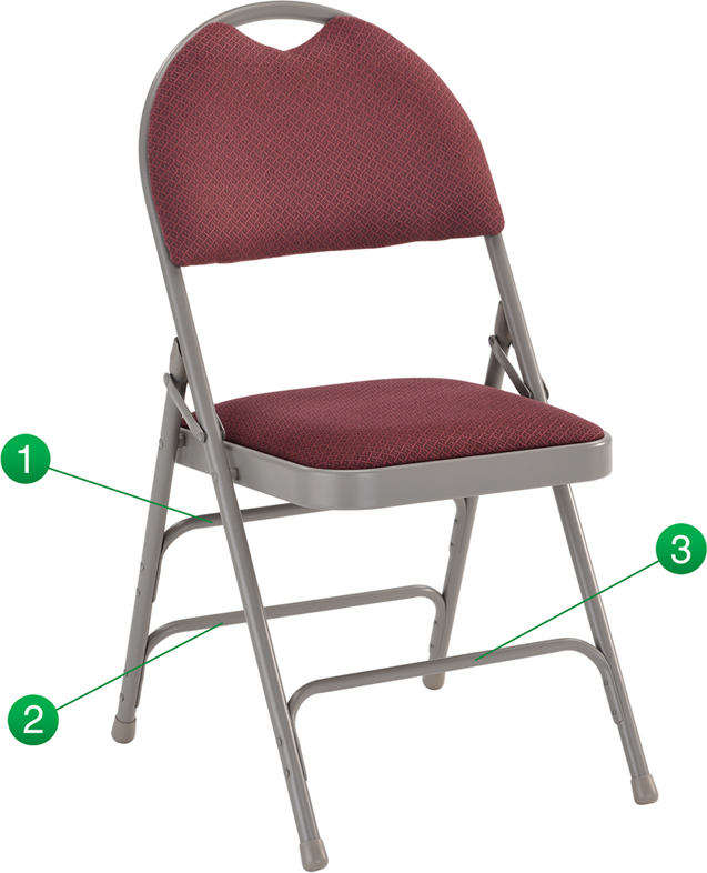 Flash Furniture  Commercial Grade Folding Chair Folds For Organized Storage
