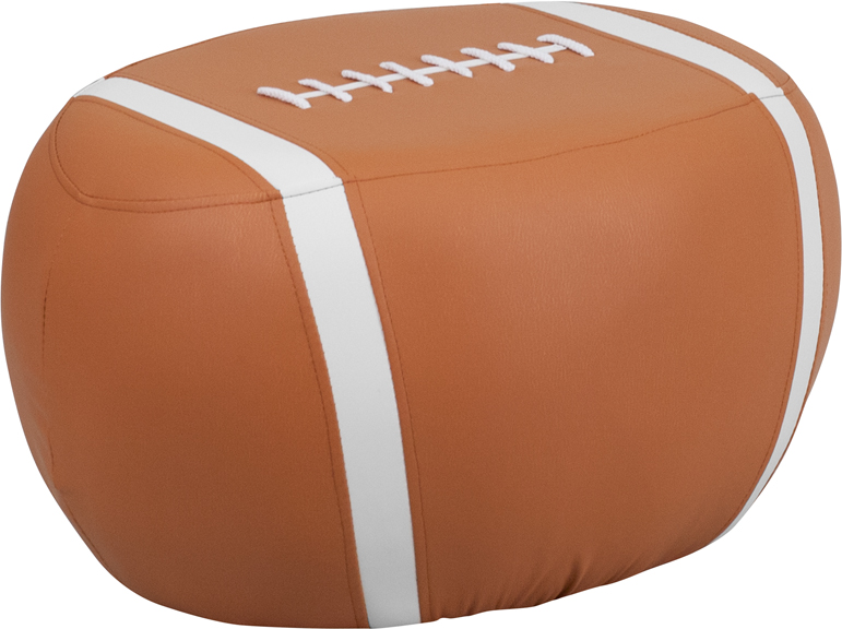 Flash Furniture  Kids Sports Stool Football Print Vinyl Upholstery