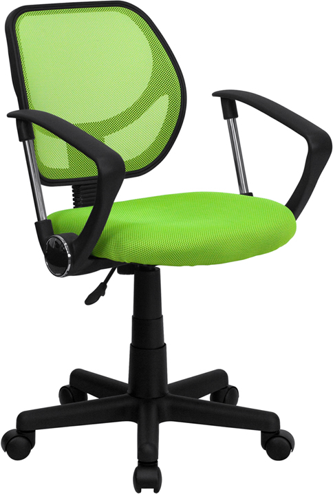 Flash Furniture  Mid-Back Task Chair Green Mesh Upholstery