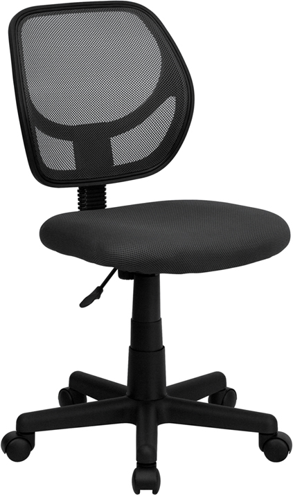 Flash Furniture  Mid-back Task Chair Gray Mesh Upholstery